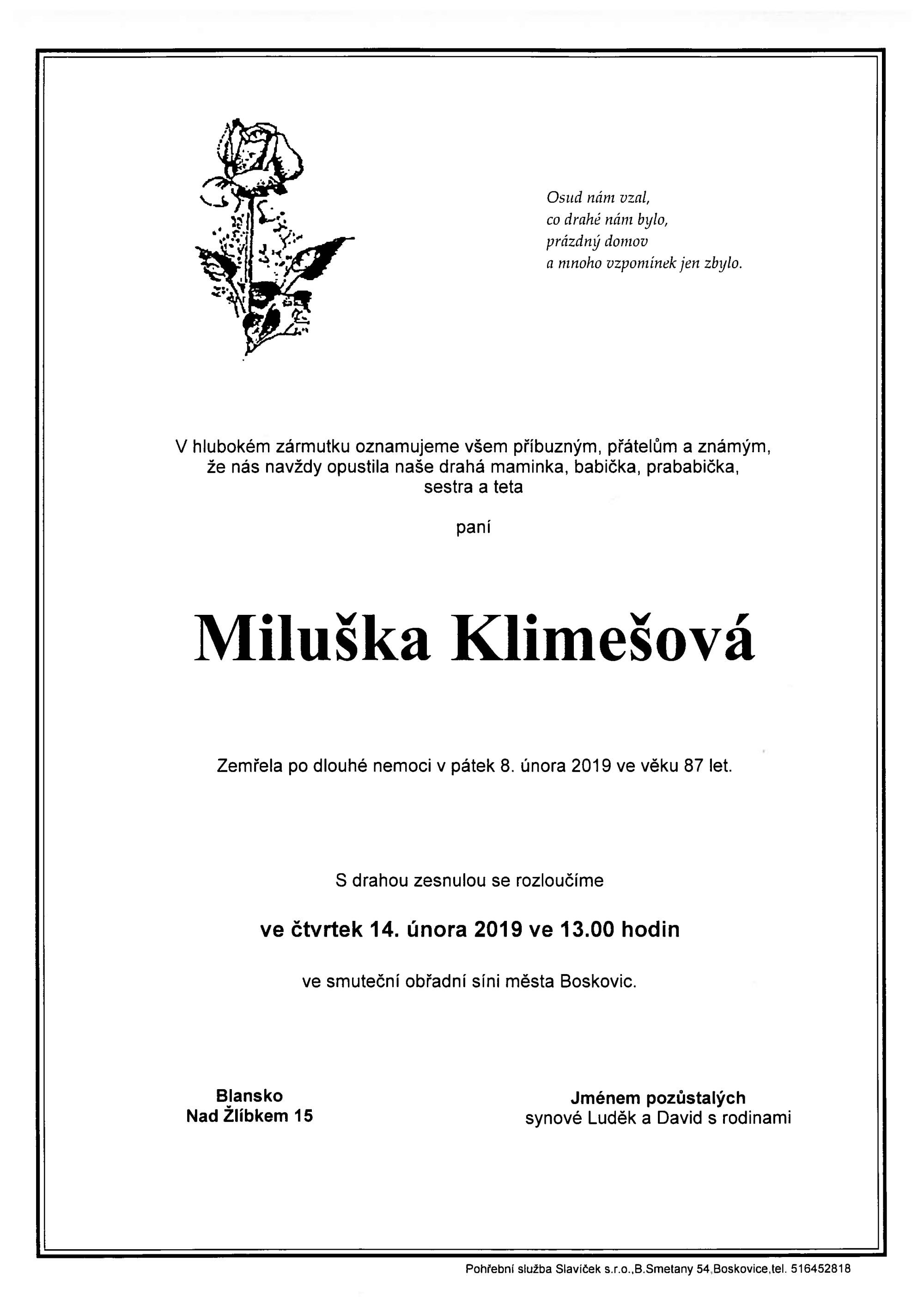 Miluška Klimešová