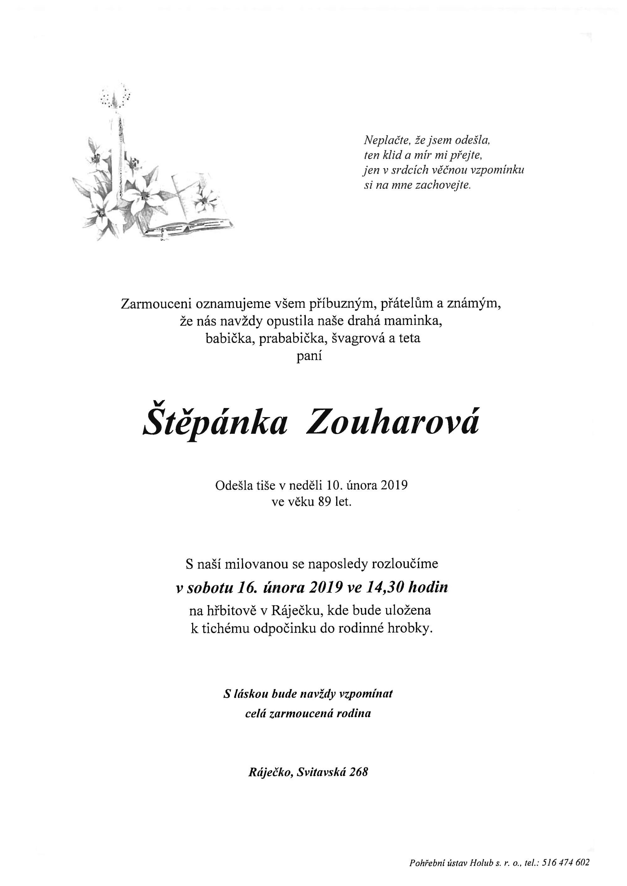 Štěpánka Zouharová