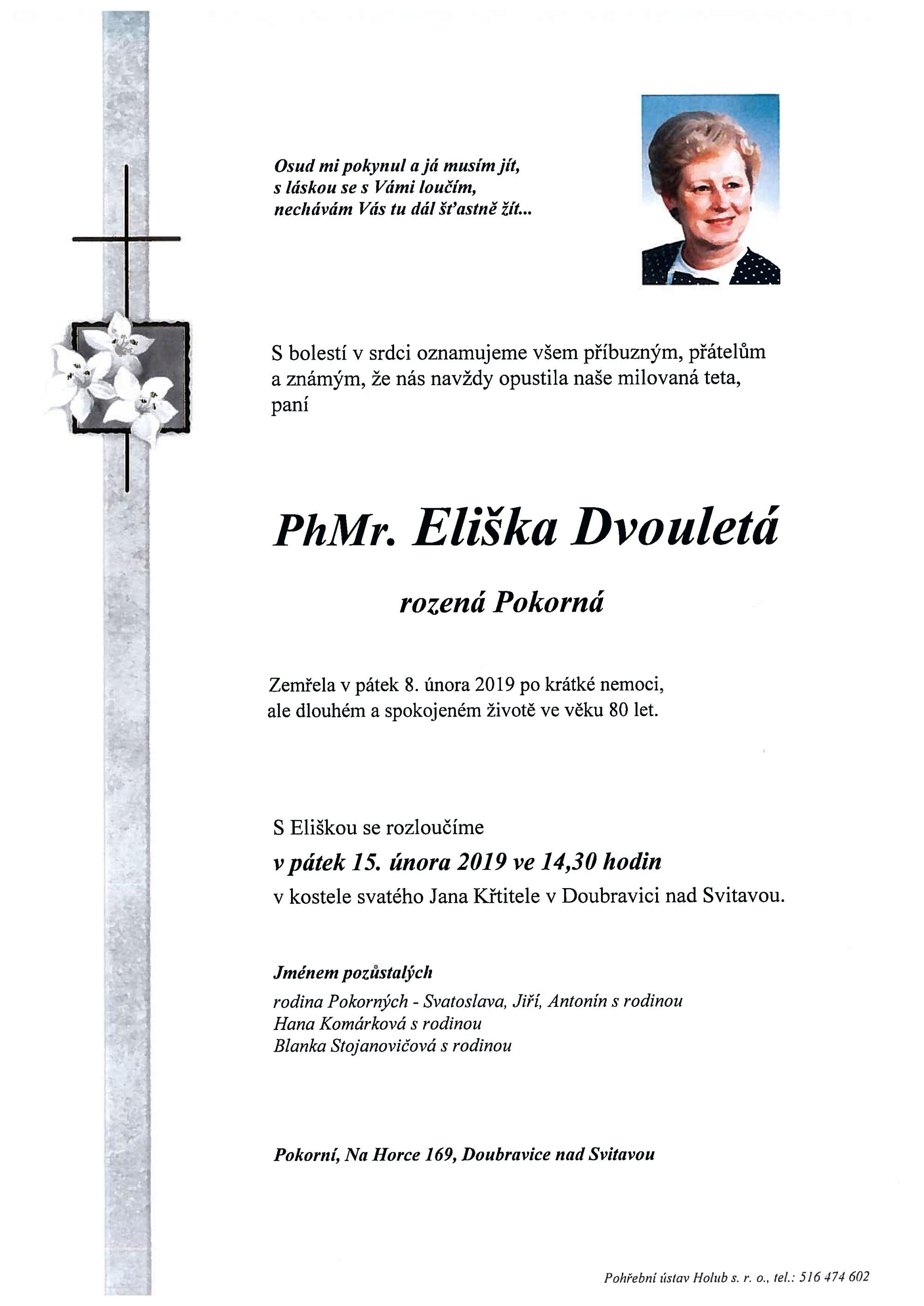 PhMr. Eliška Dvouletá