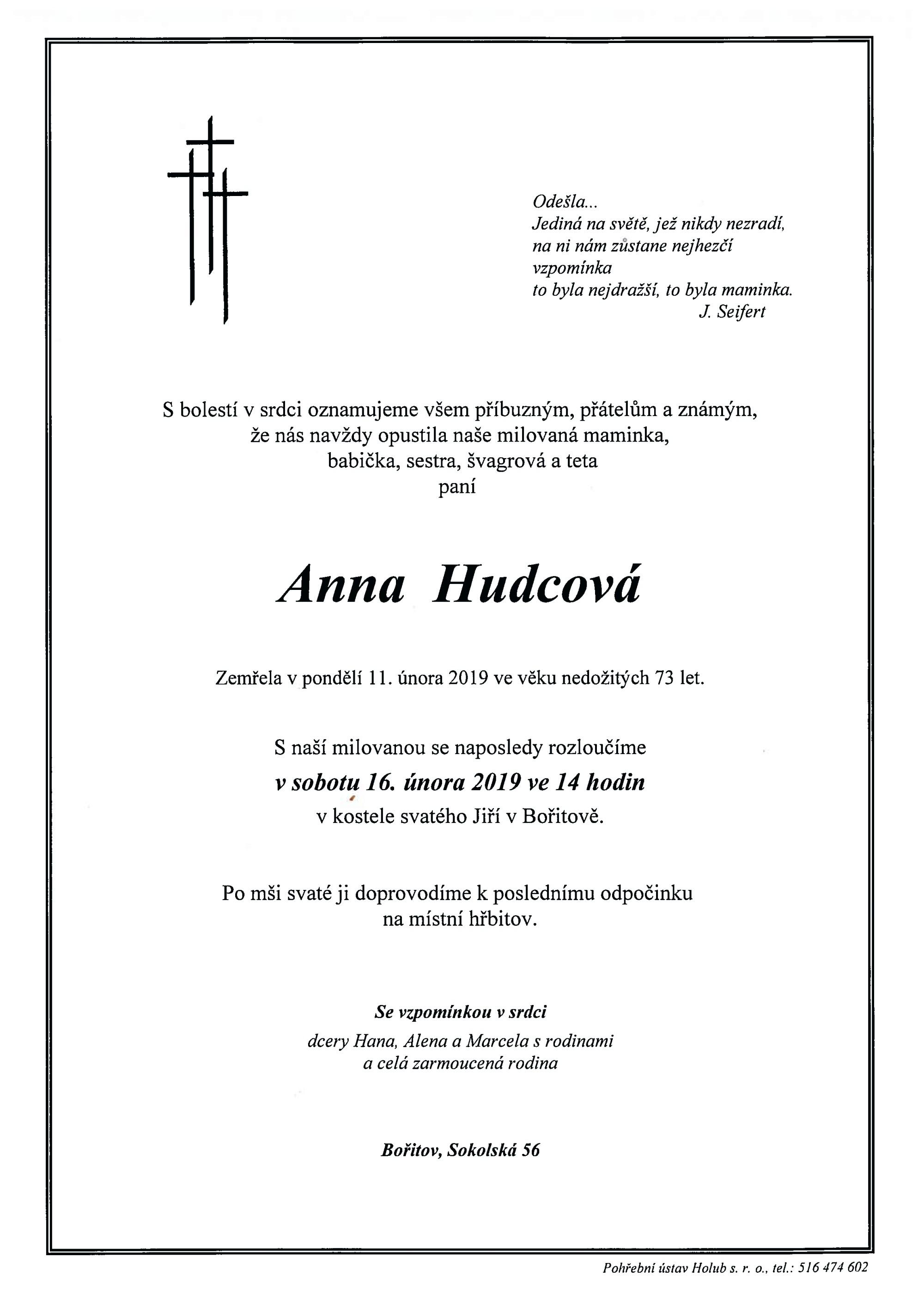 Anna Hudcová