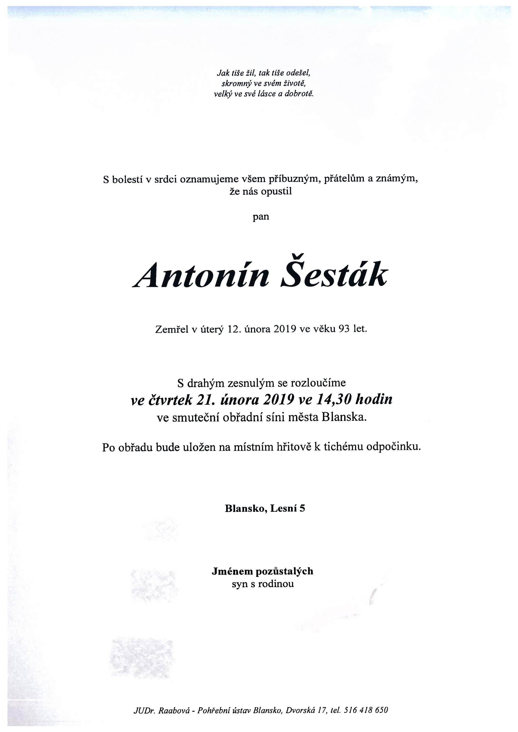 Antonín Šesták