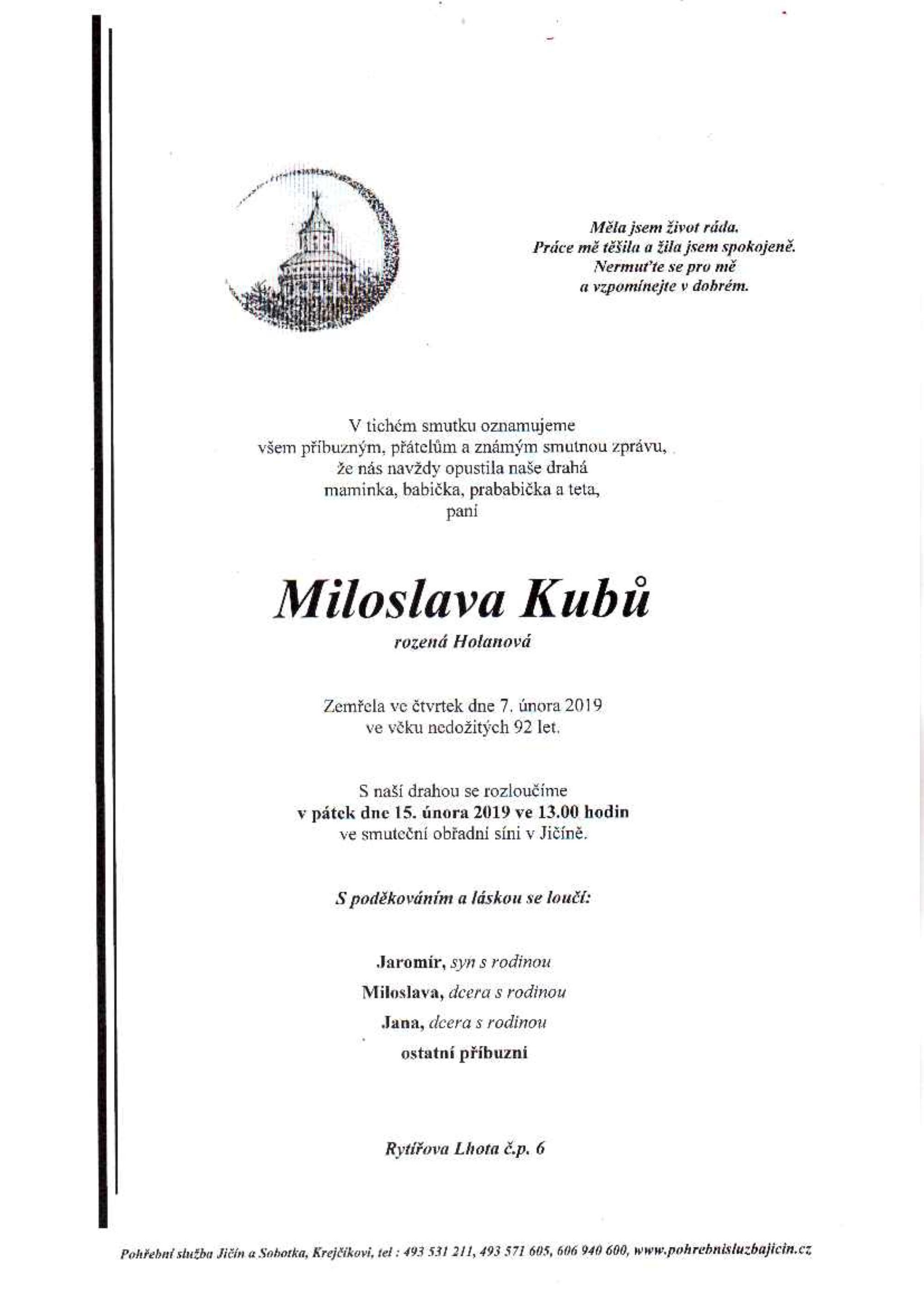 Miloslava Kubů