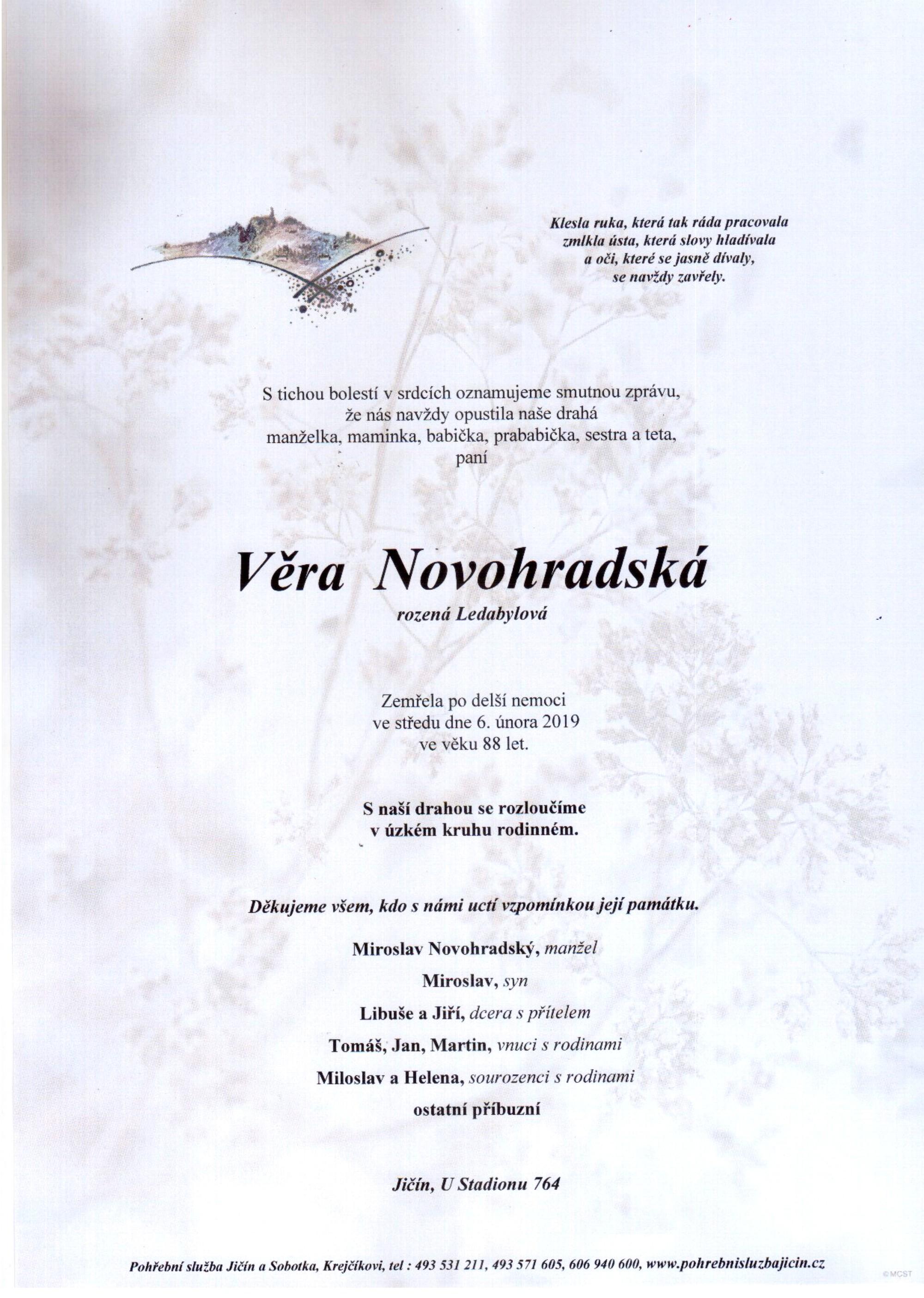 Věra Novohradská