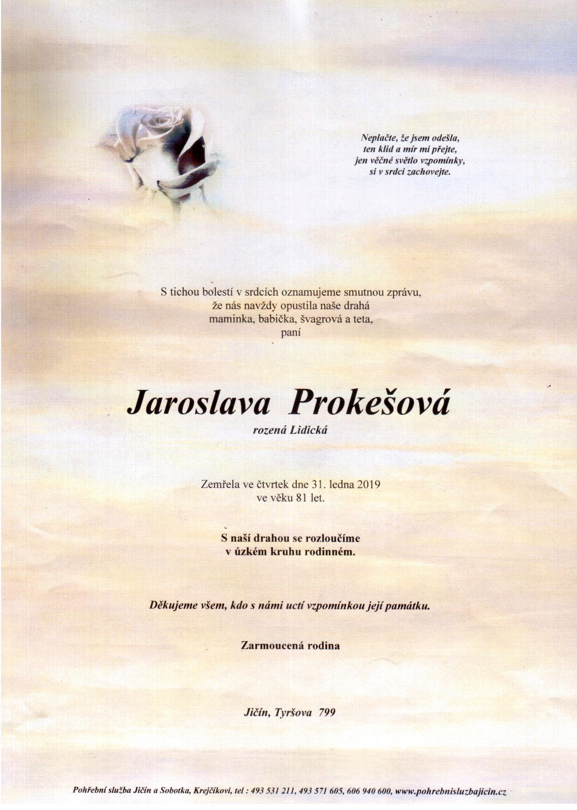 Jaroslava Prokešová