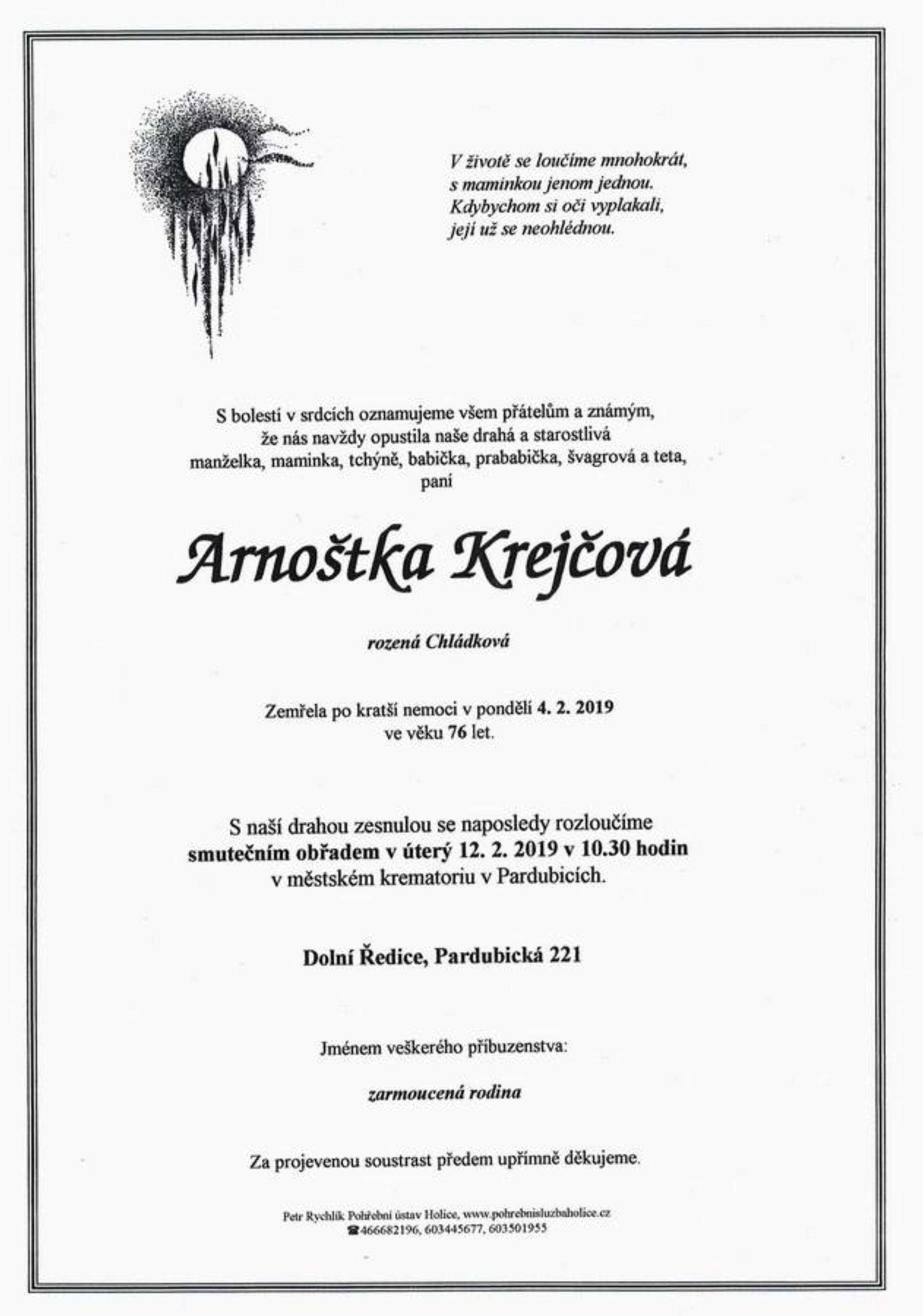 Arnoštka Krejčová