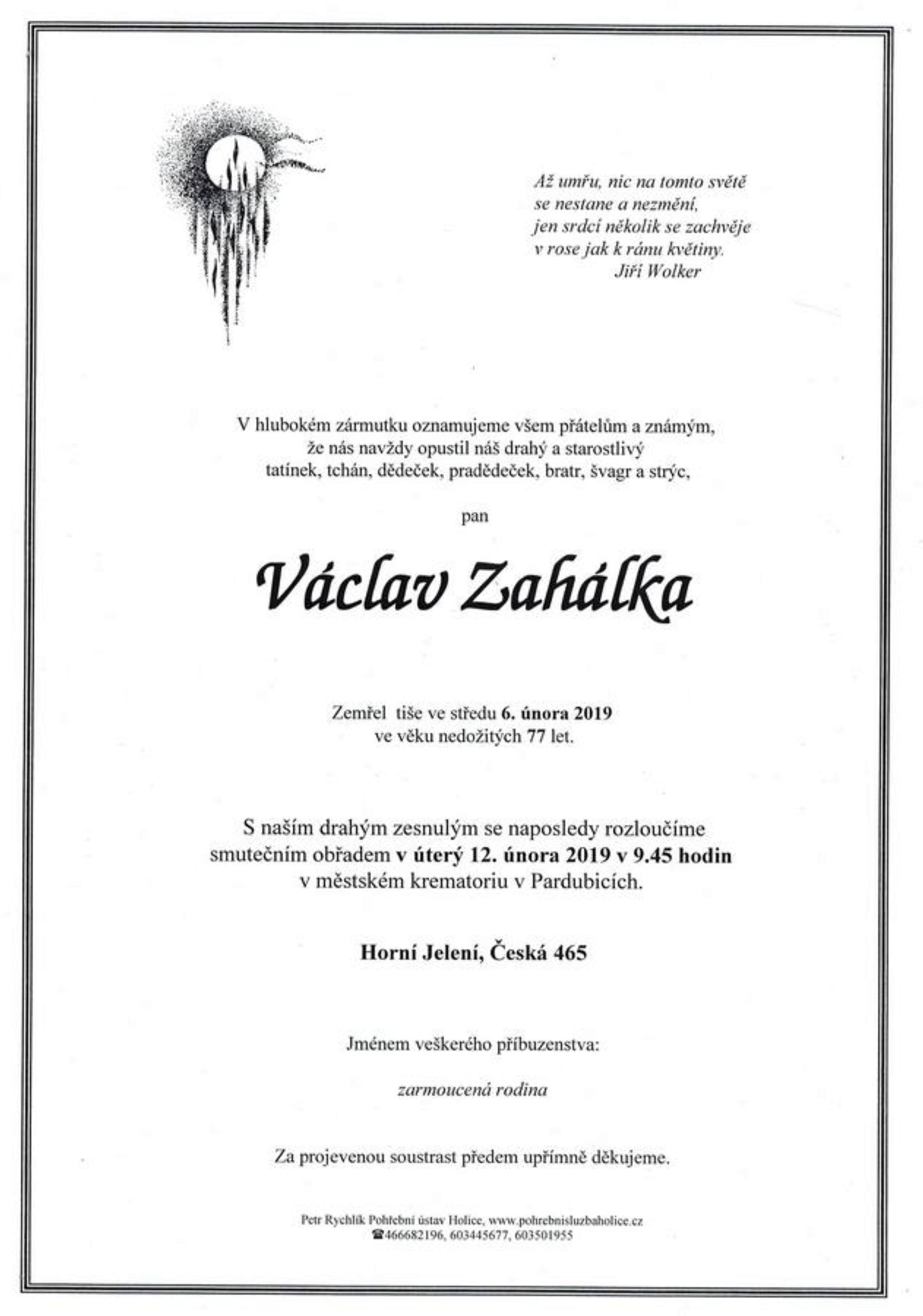 Václav Zahálka
