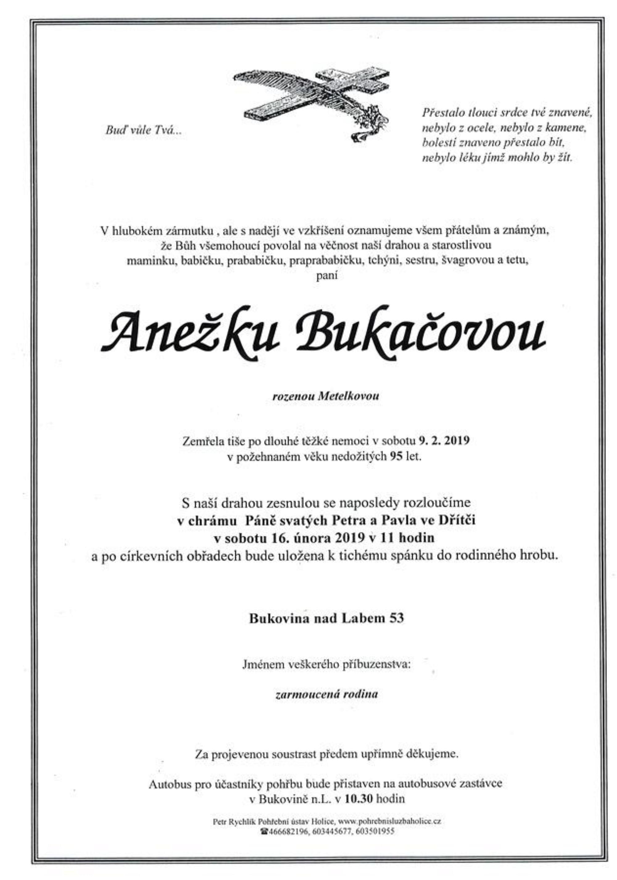 Anežka Bukačová