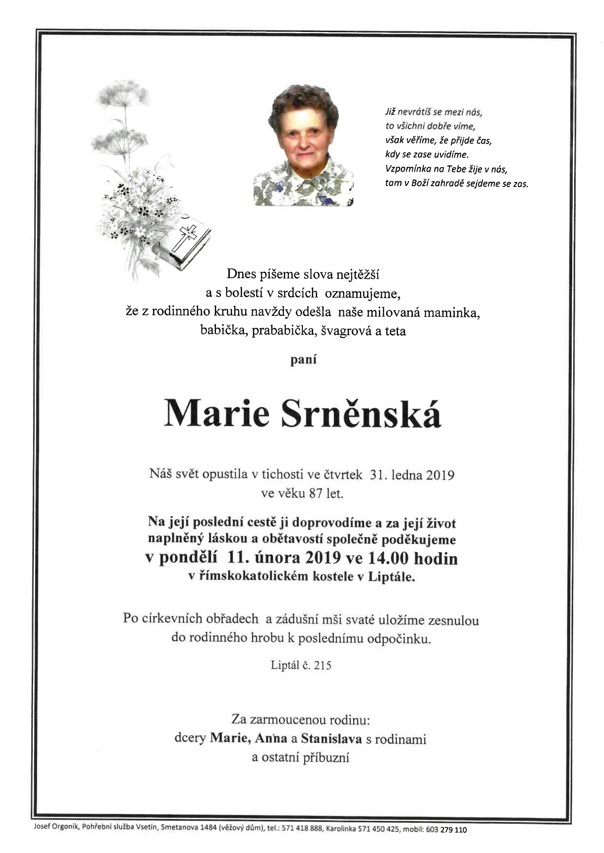 Marie Srněnská