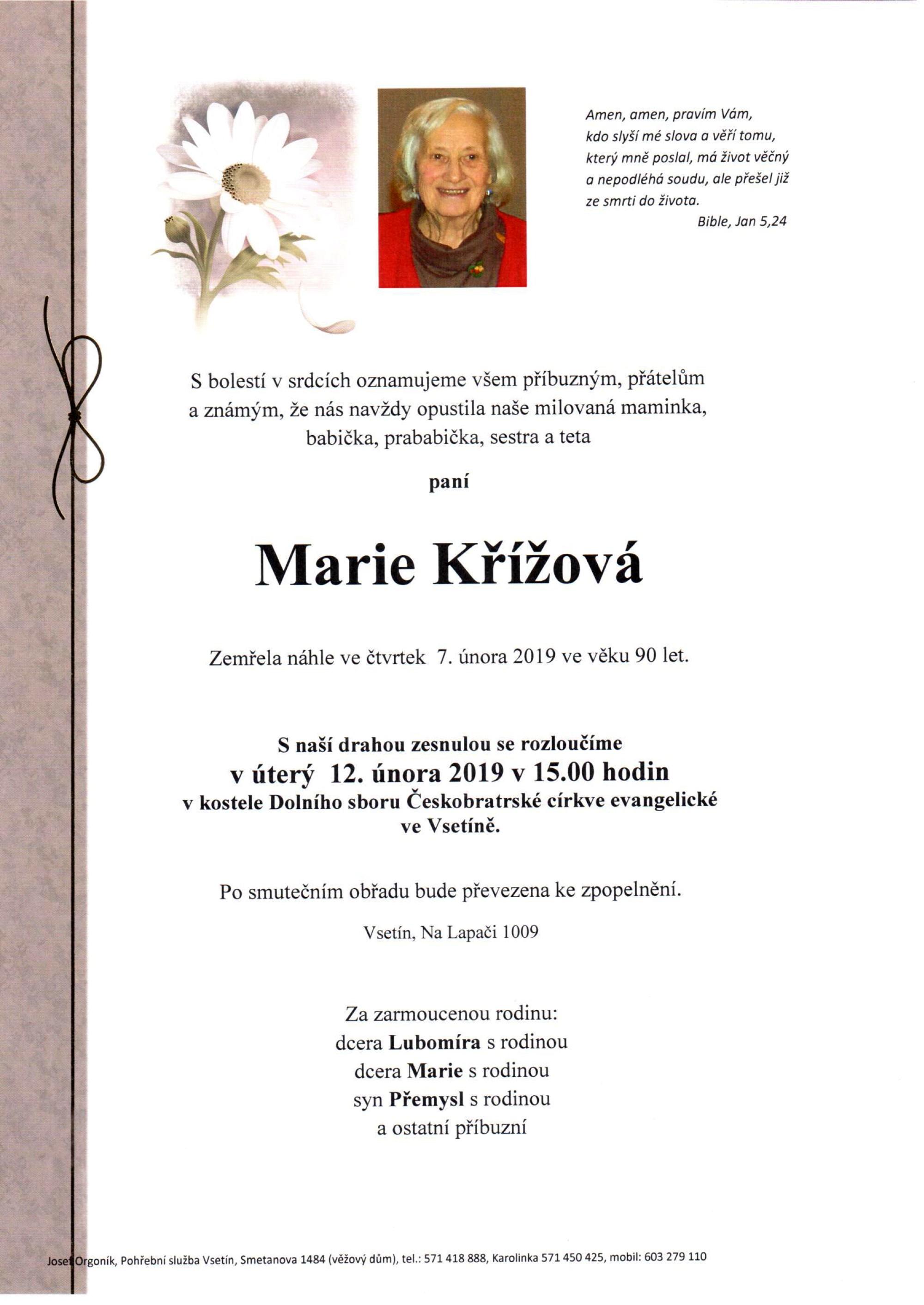 Marie Křížová