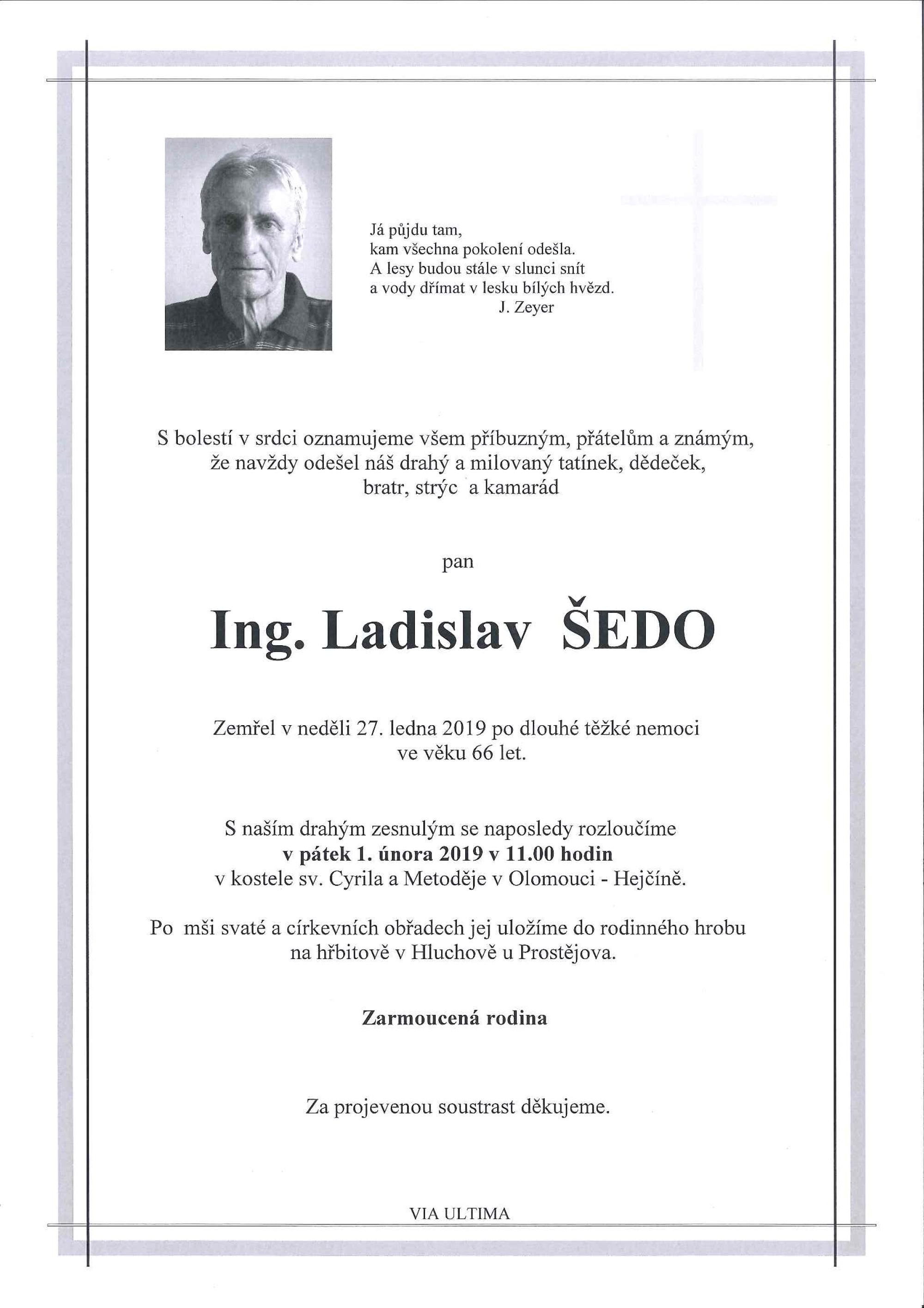 Ing. Ladislav Šedo