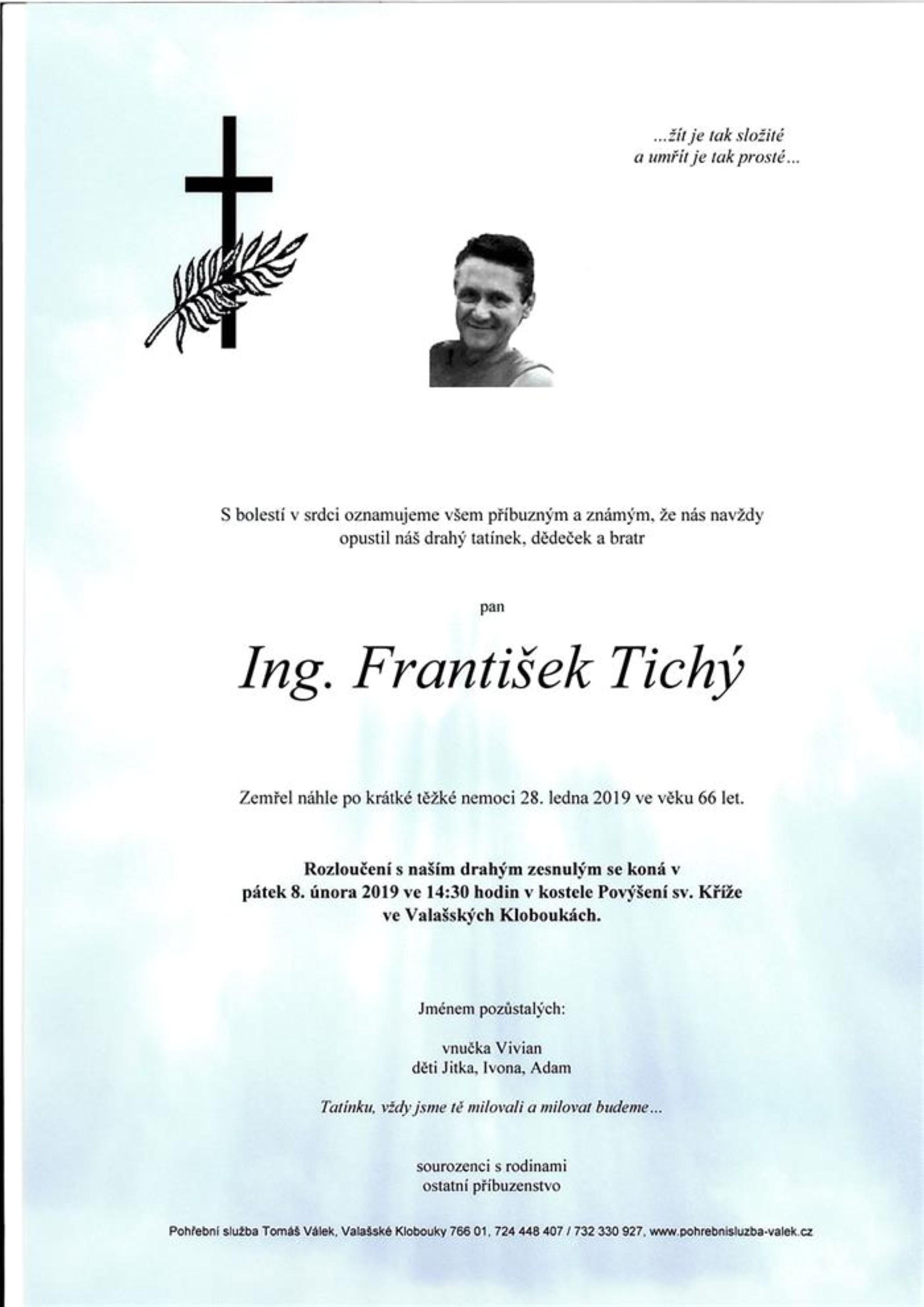 Ing. František Tichý
