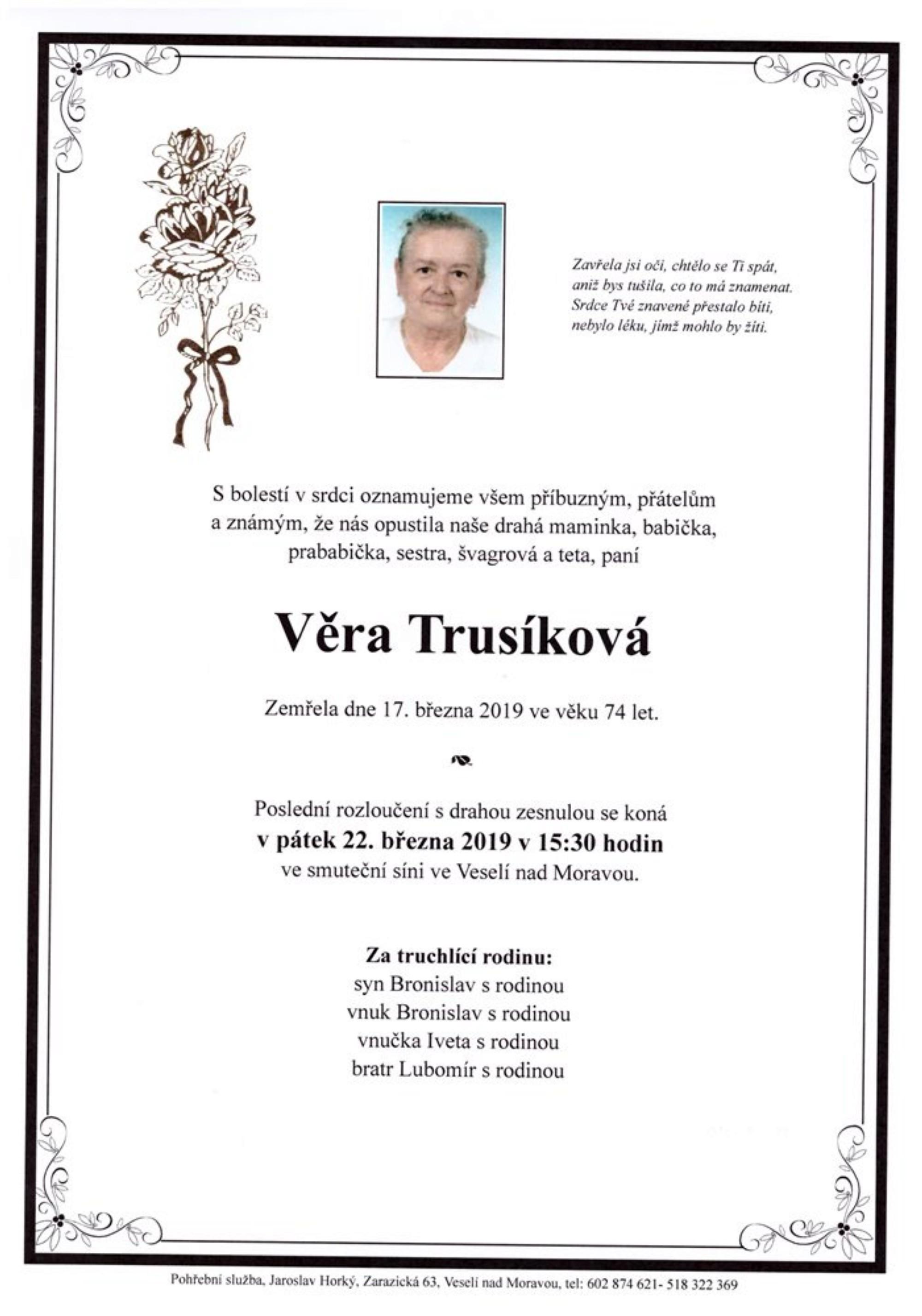 Věra Trusíková