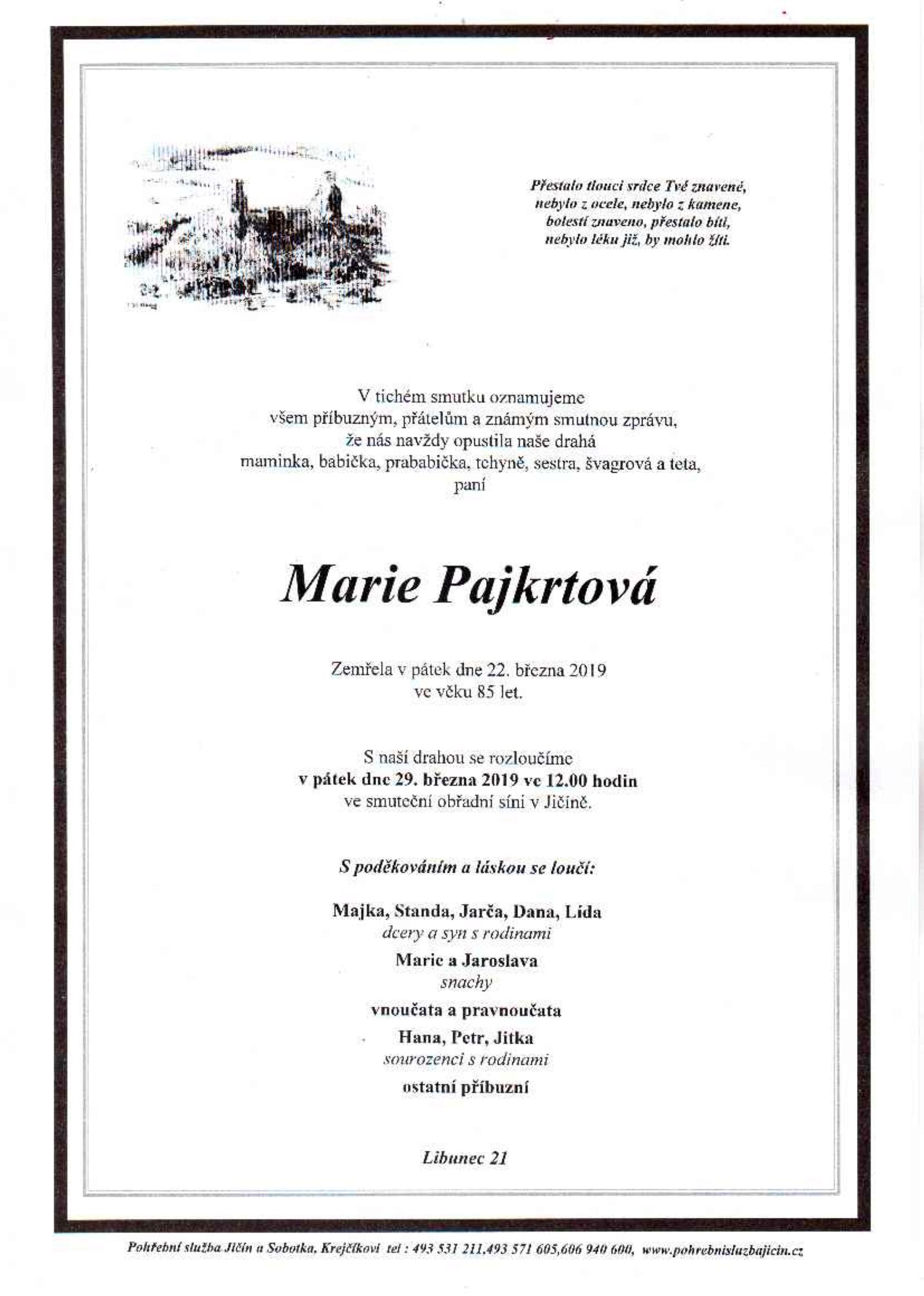 Marie Pajkrtová