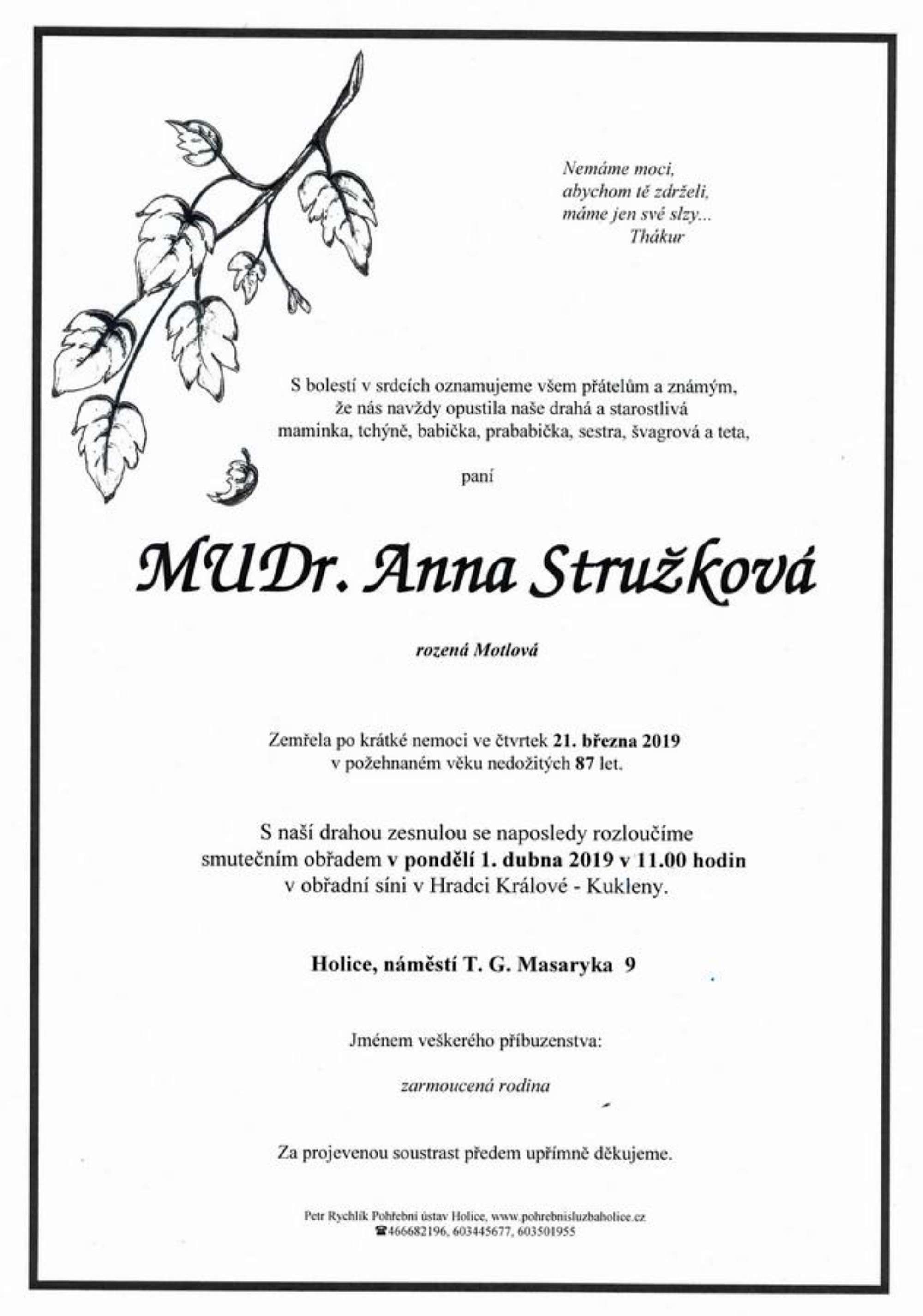 MUDr. Anna Stružková
