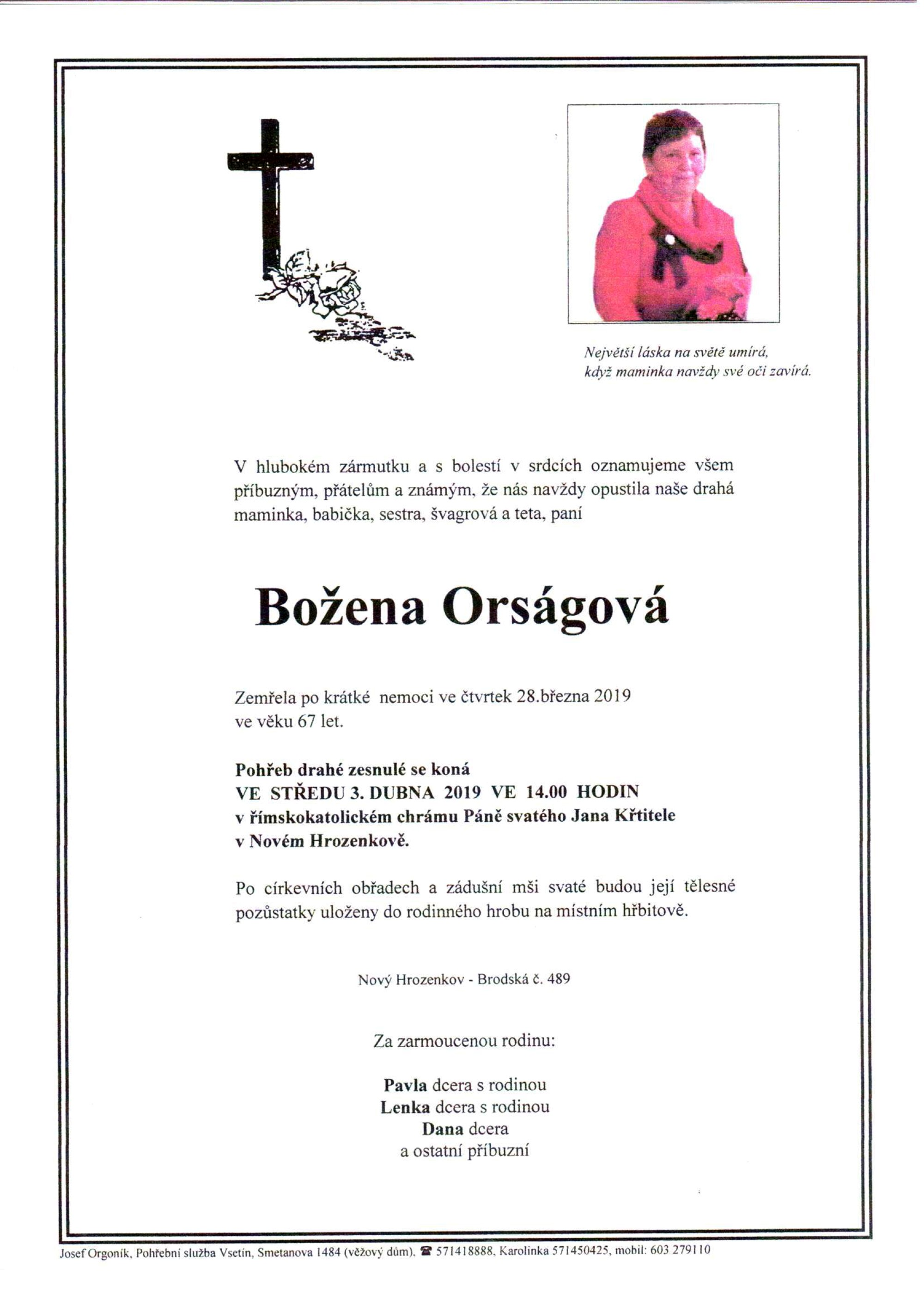 Božena Orságová
