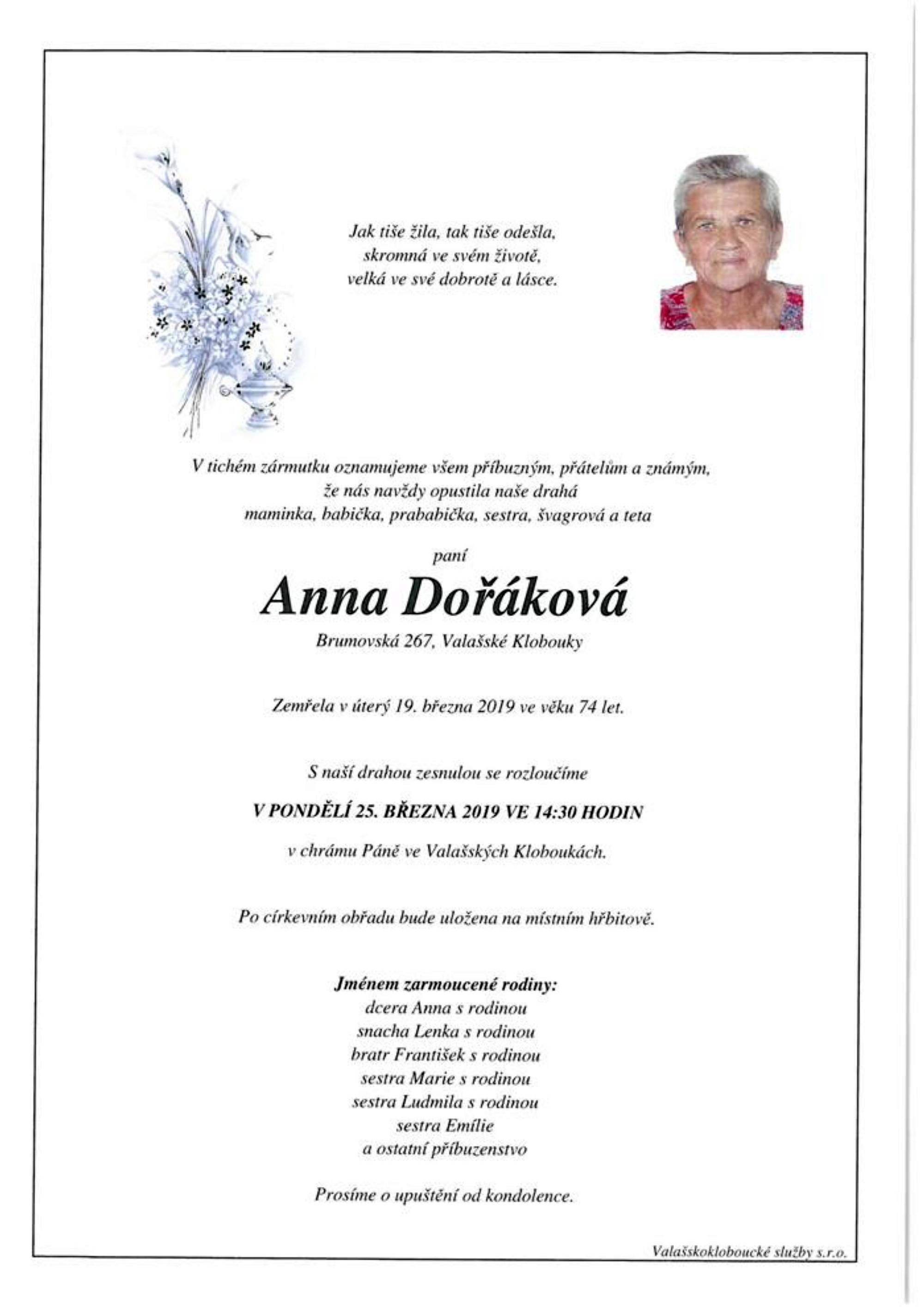 Anna Dořáková