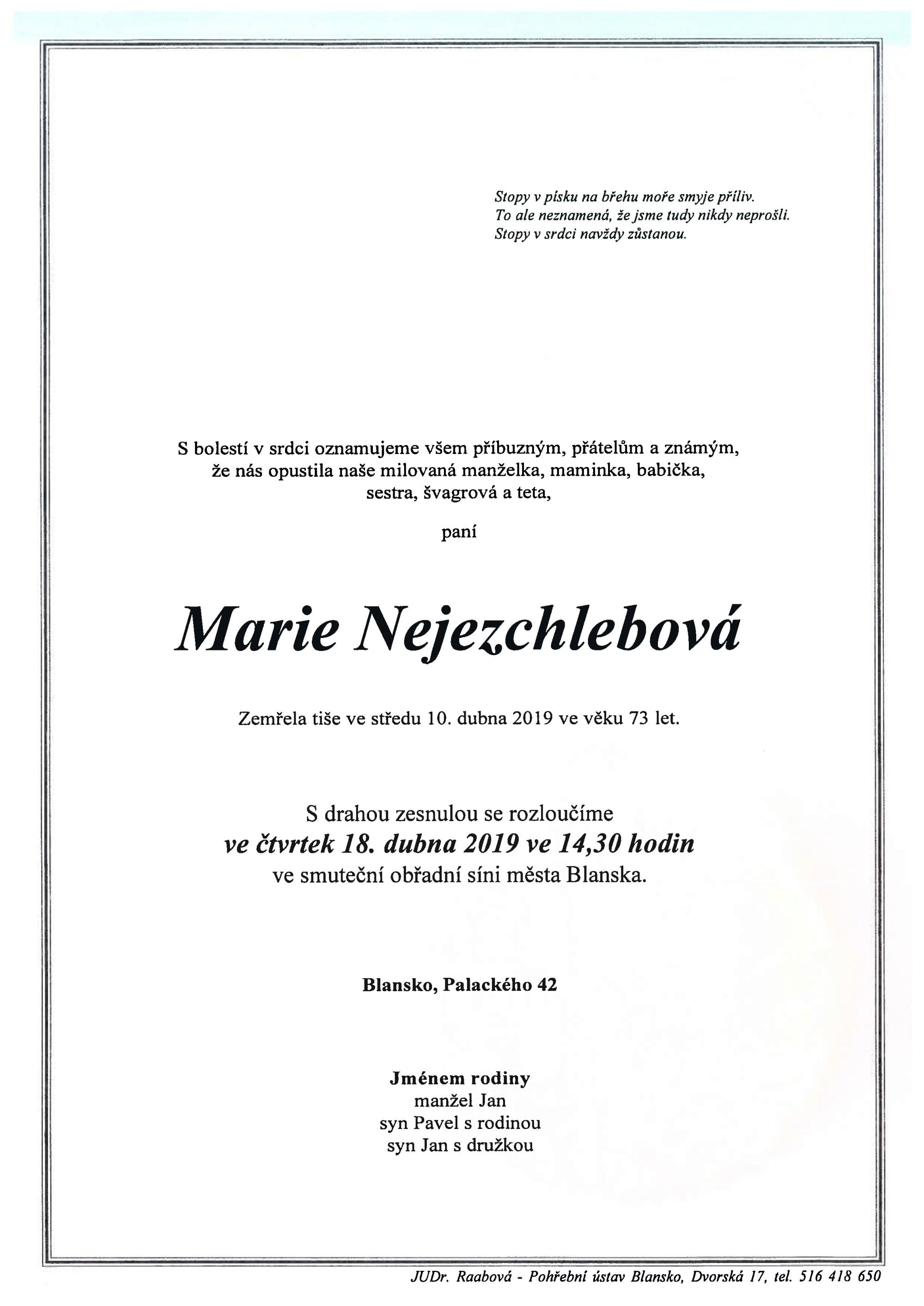 Marie Nejezchlebová