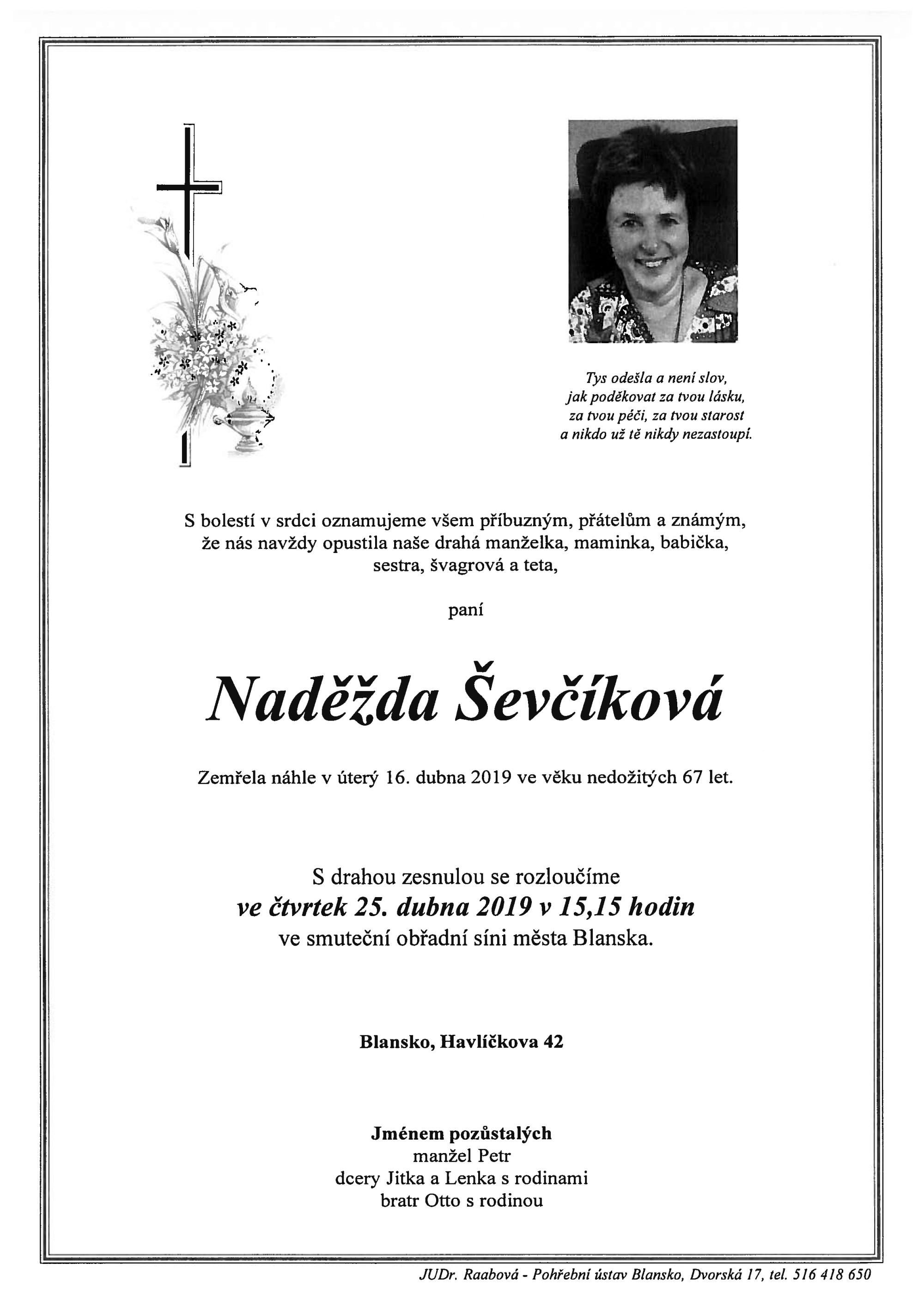 Naděžda Ševčíková