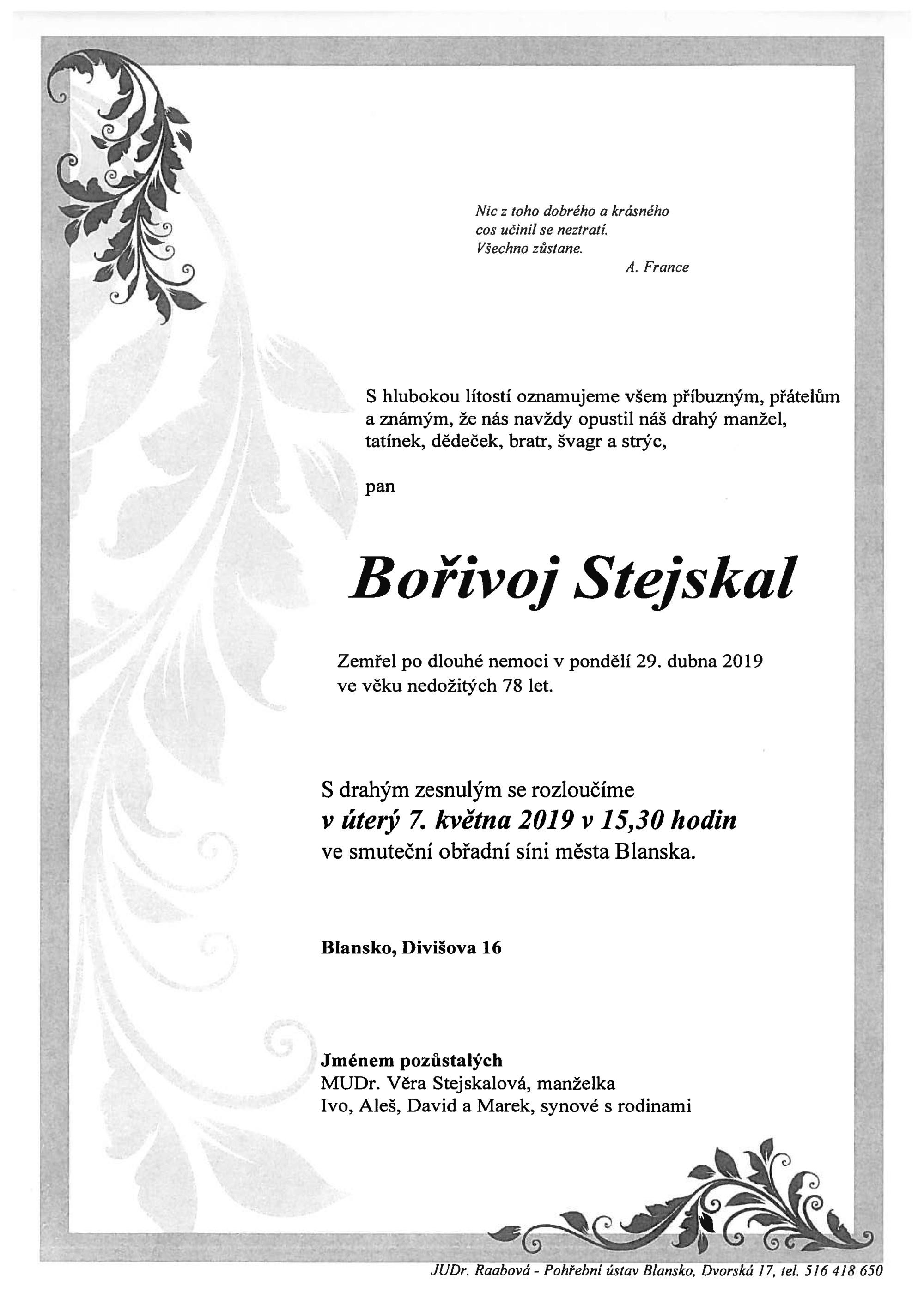 Bořivoj Stejskal