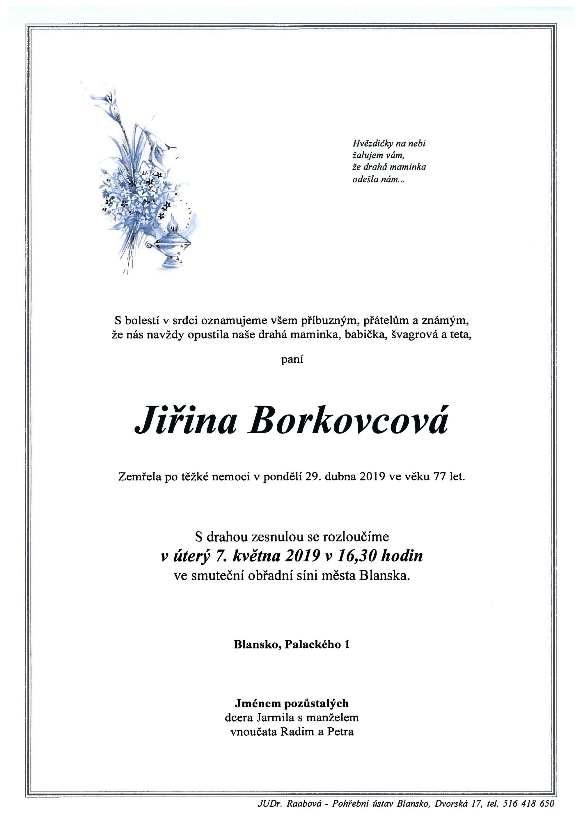 Jiřina Borkovcová