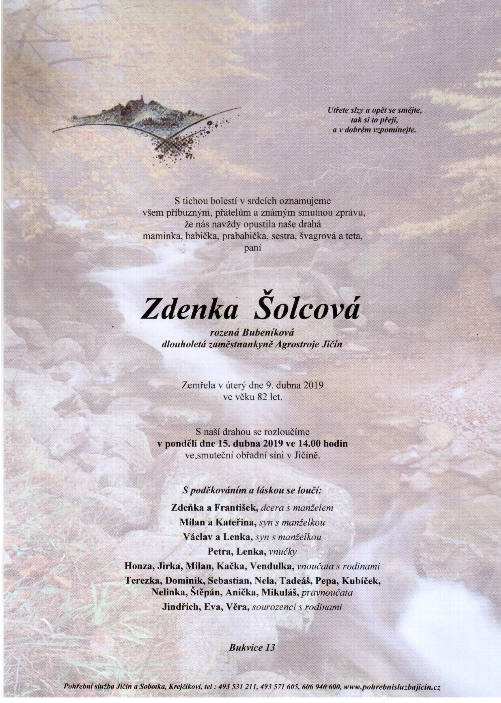 Zdenka Šolcová