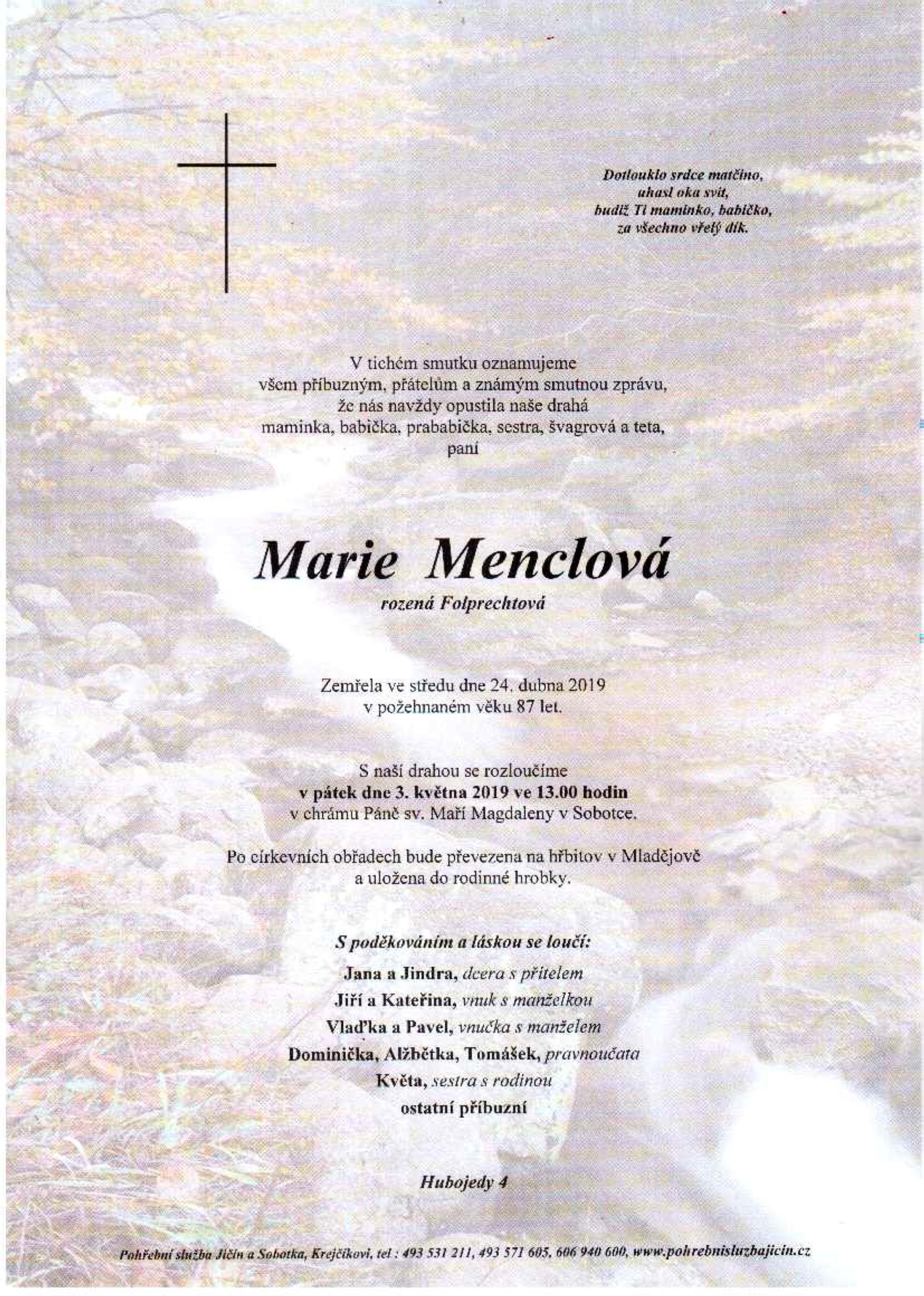 Marie Menclová