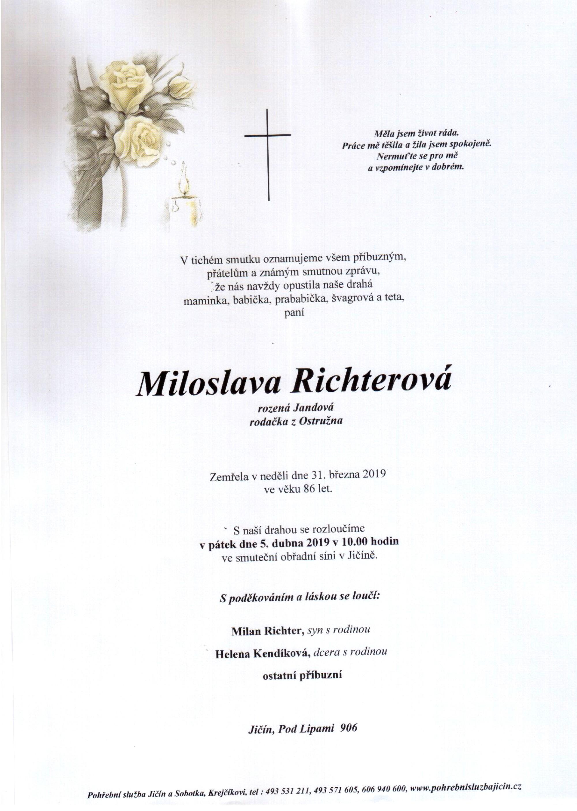 Miloslava Richterová