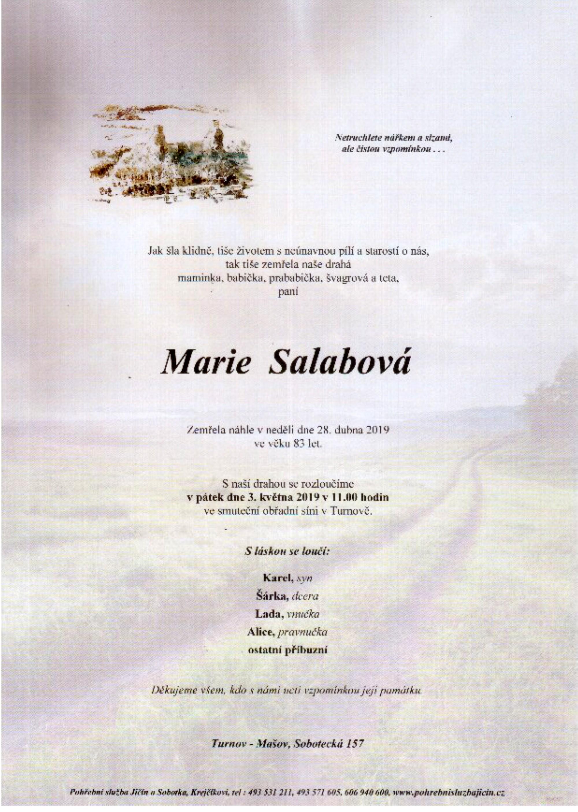 Marie Salabová