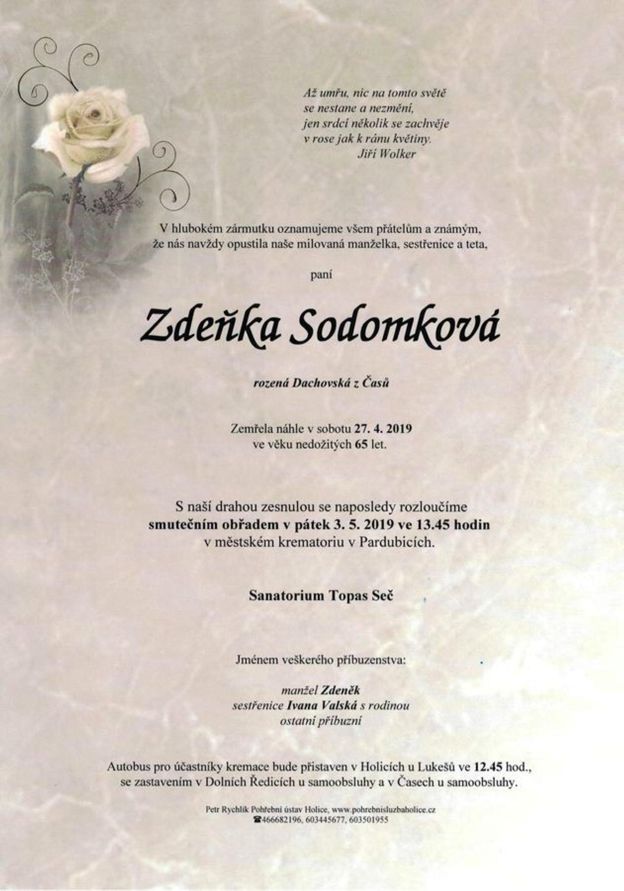 Zdeňka Sodomková