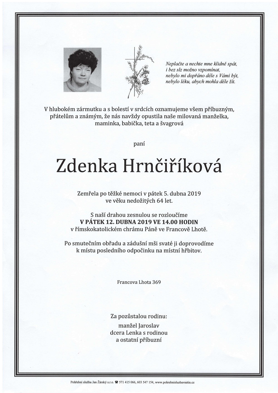 Zdenka Hrnčiříková