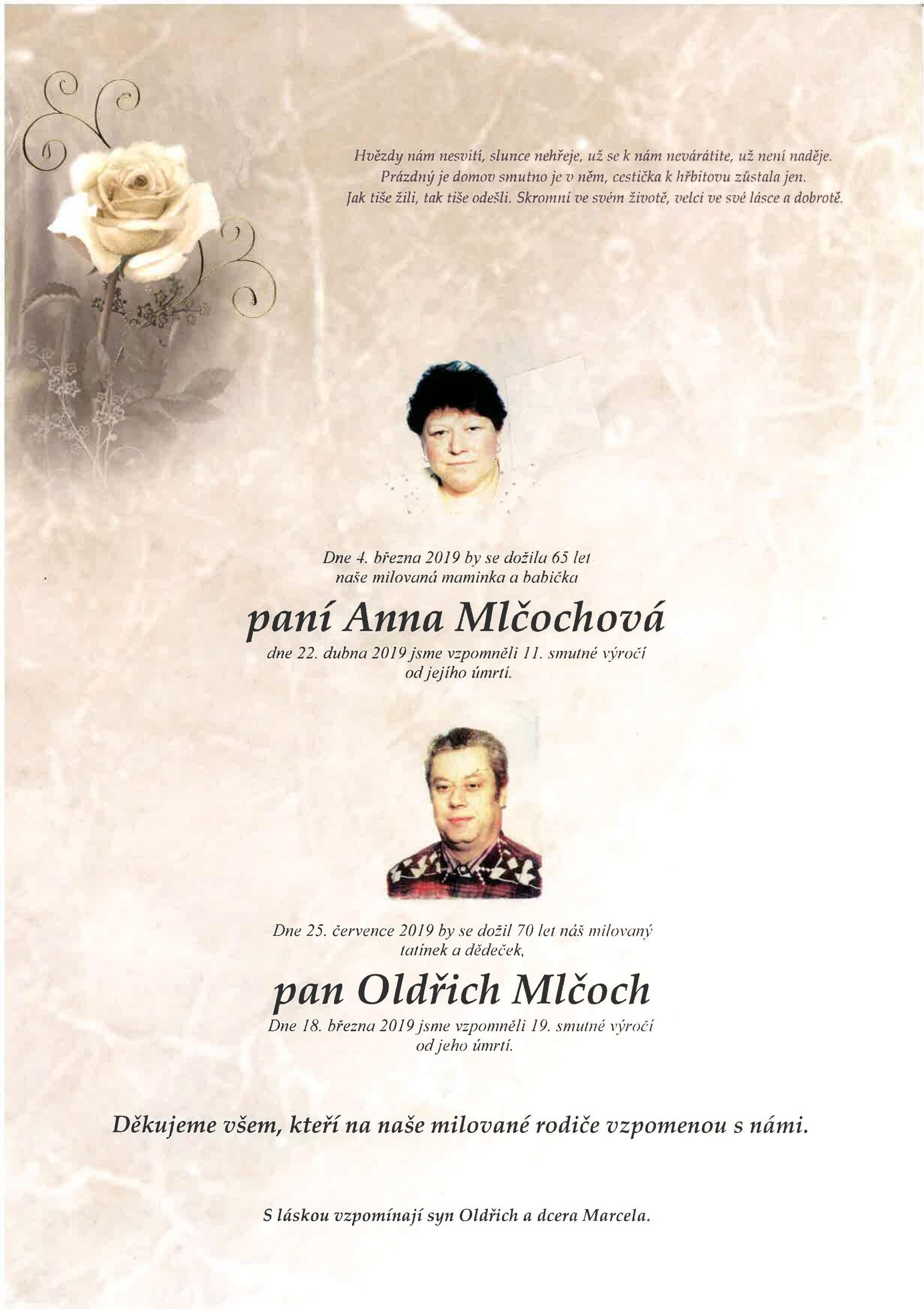 Anna Mlčochová a Oldřich Mlčoch