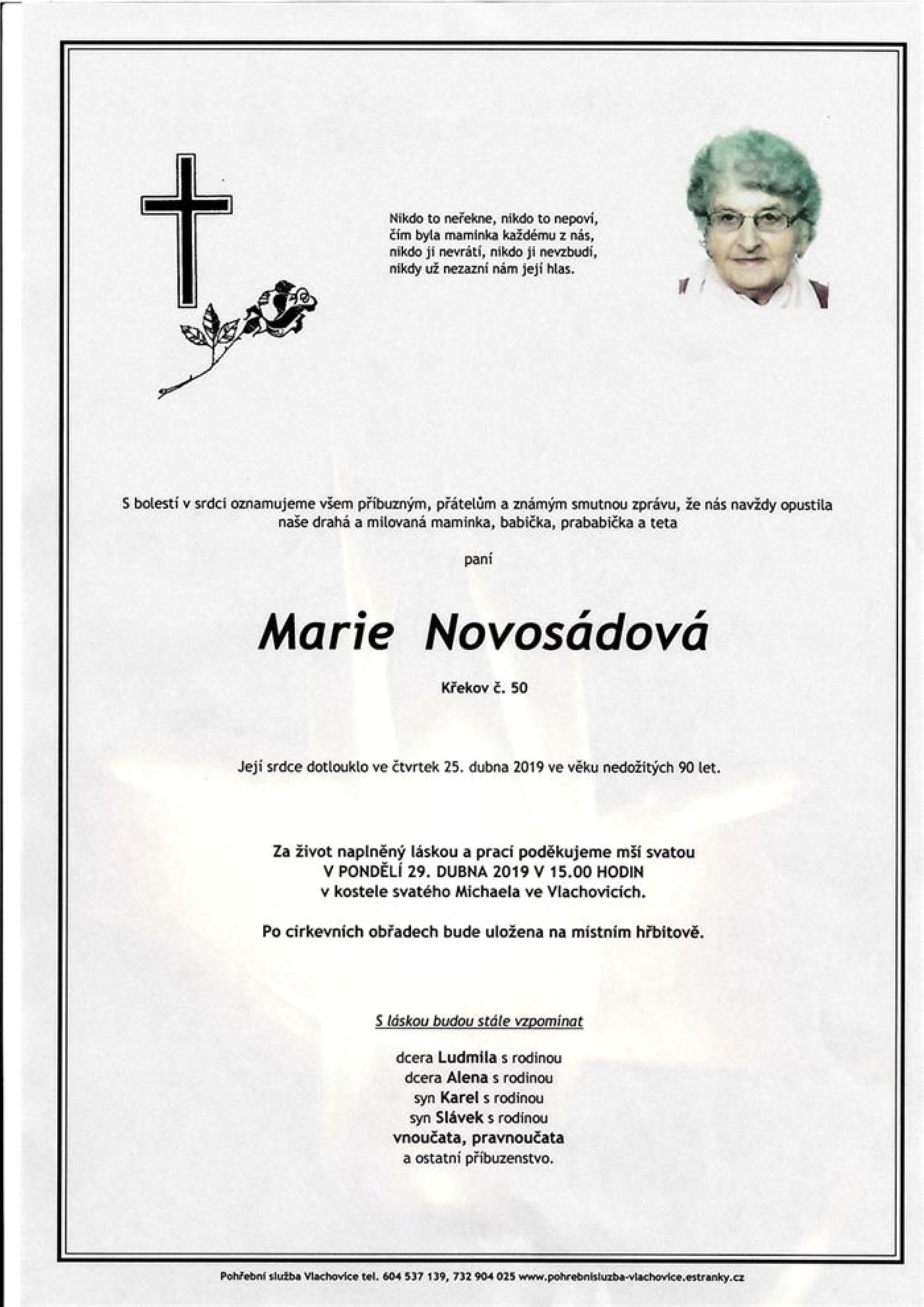 Marie Novosádová