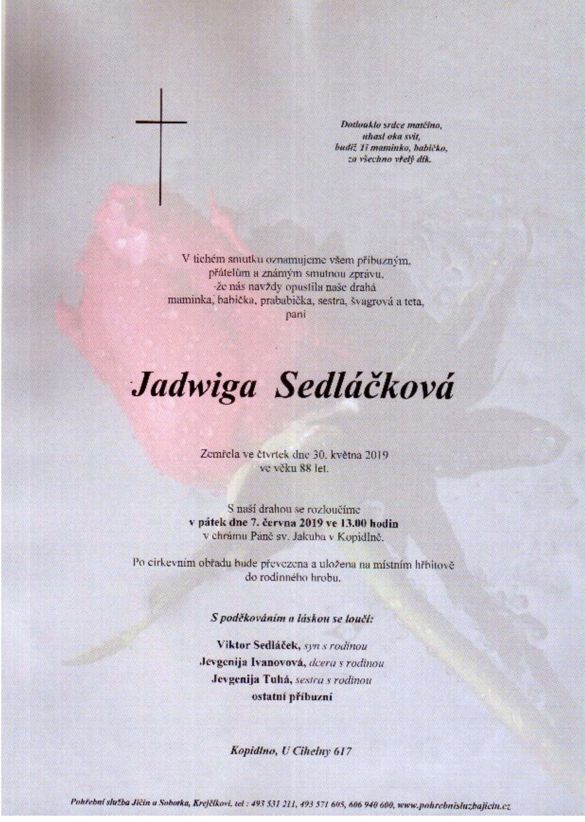 Jadwiga Sedláčková