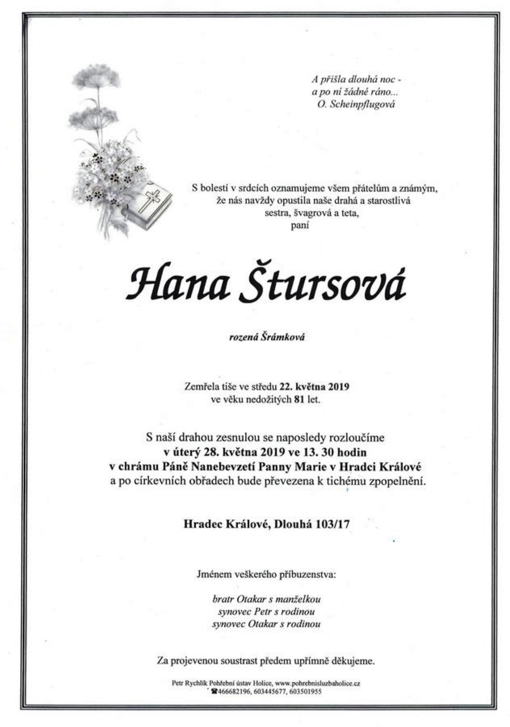 Hana Štursová