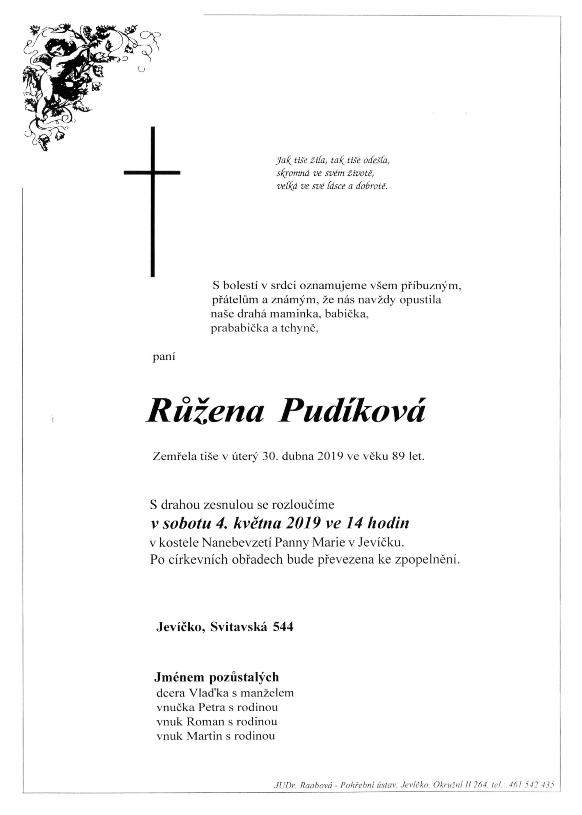 Růžena Pudíková