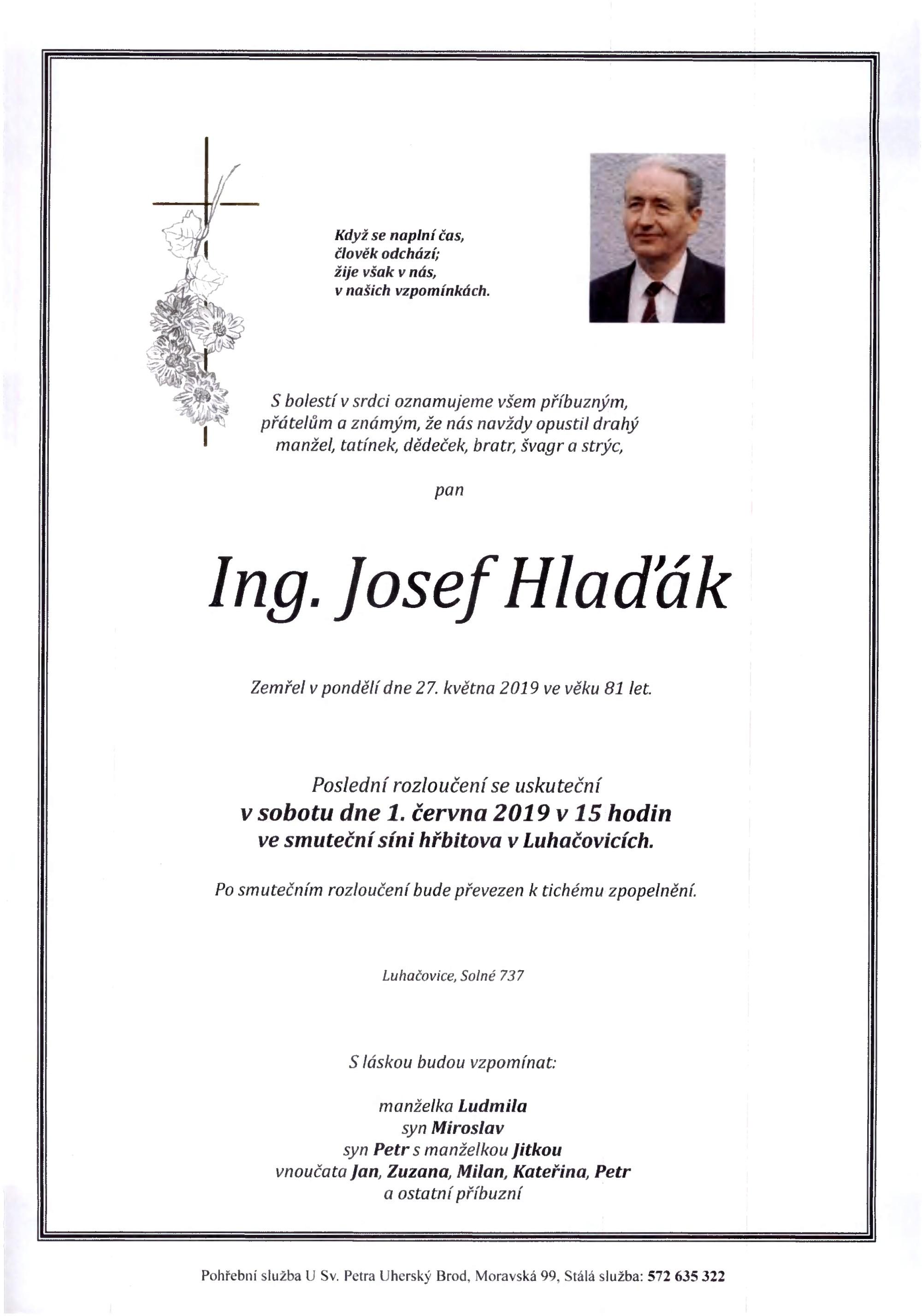 Ing. Josef Hlaďák