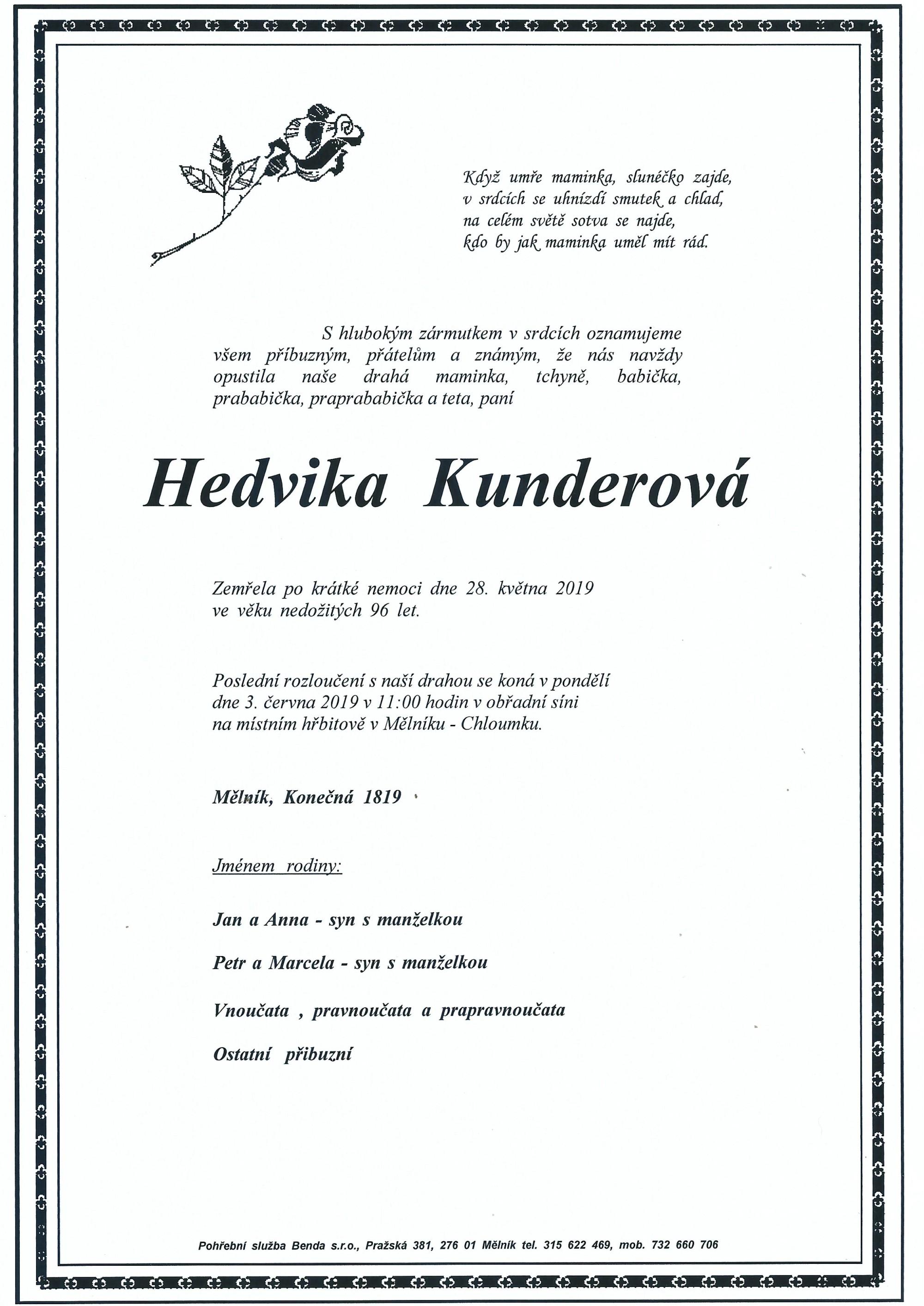 Hedvika Kunderová