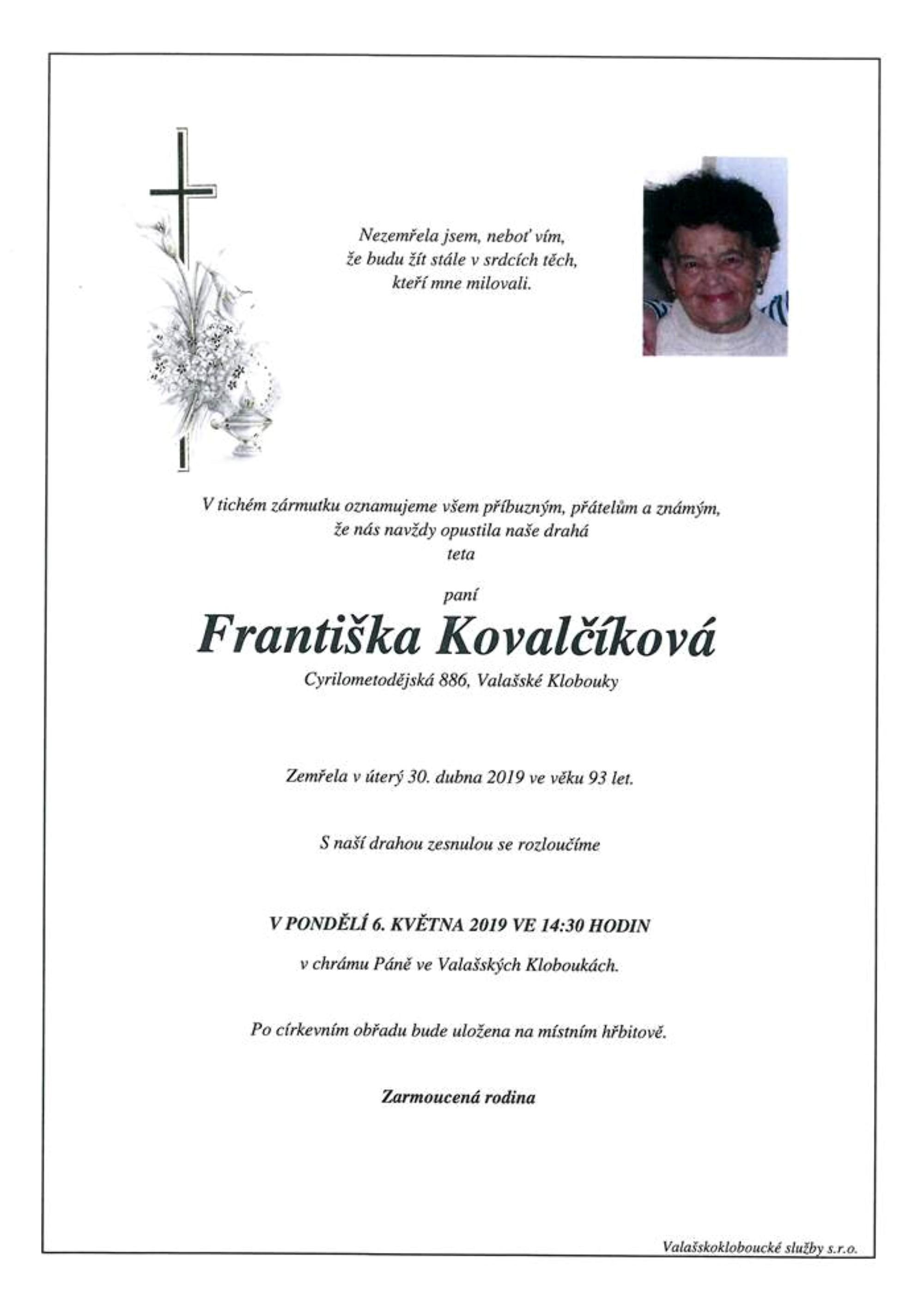 Františka Kovalčíková