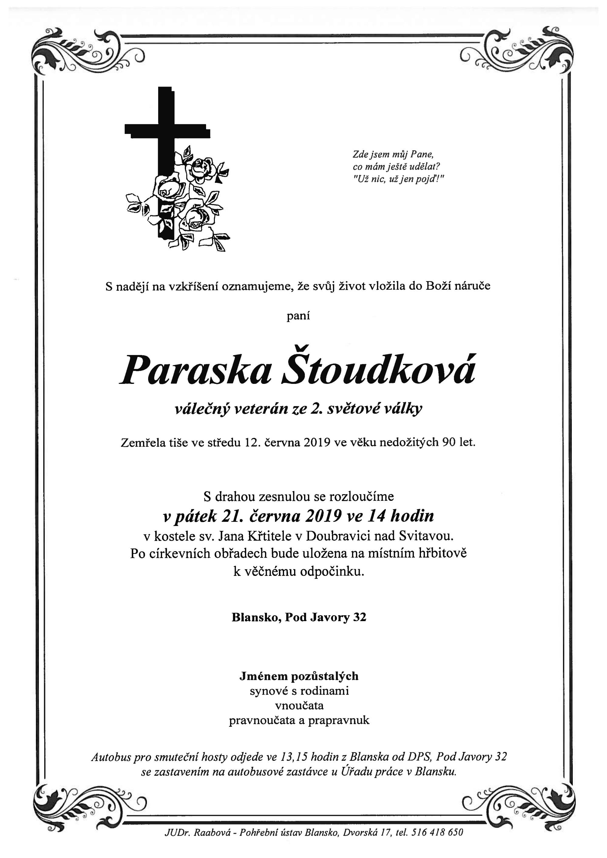 Paraska Štoudková