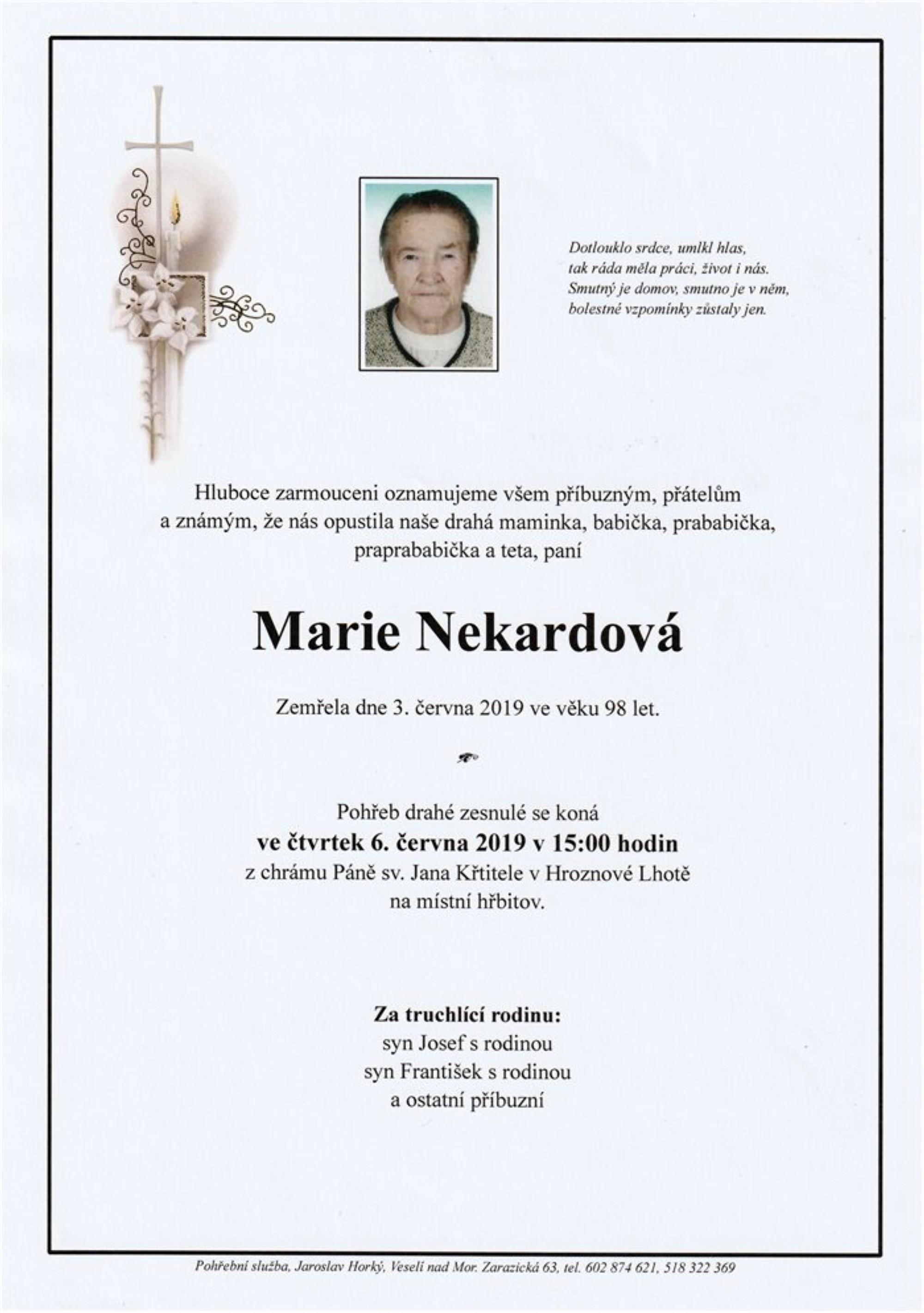 Marie Nekardová
