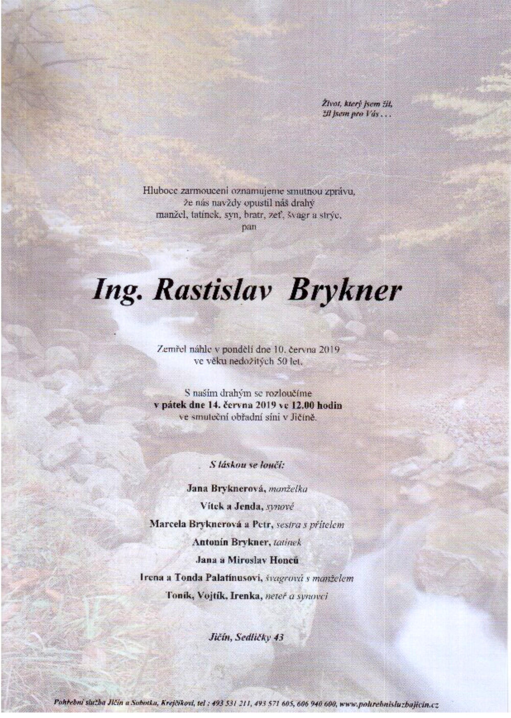 Ing. Rastislav Brykner