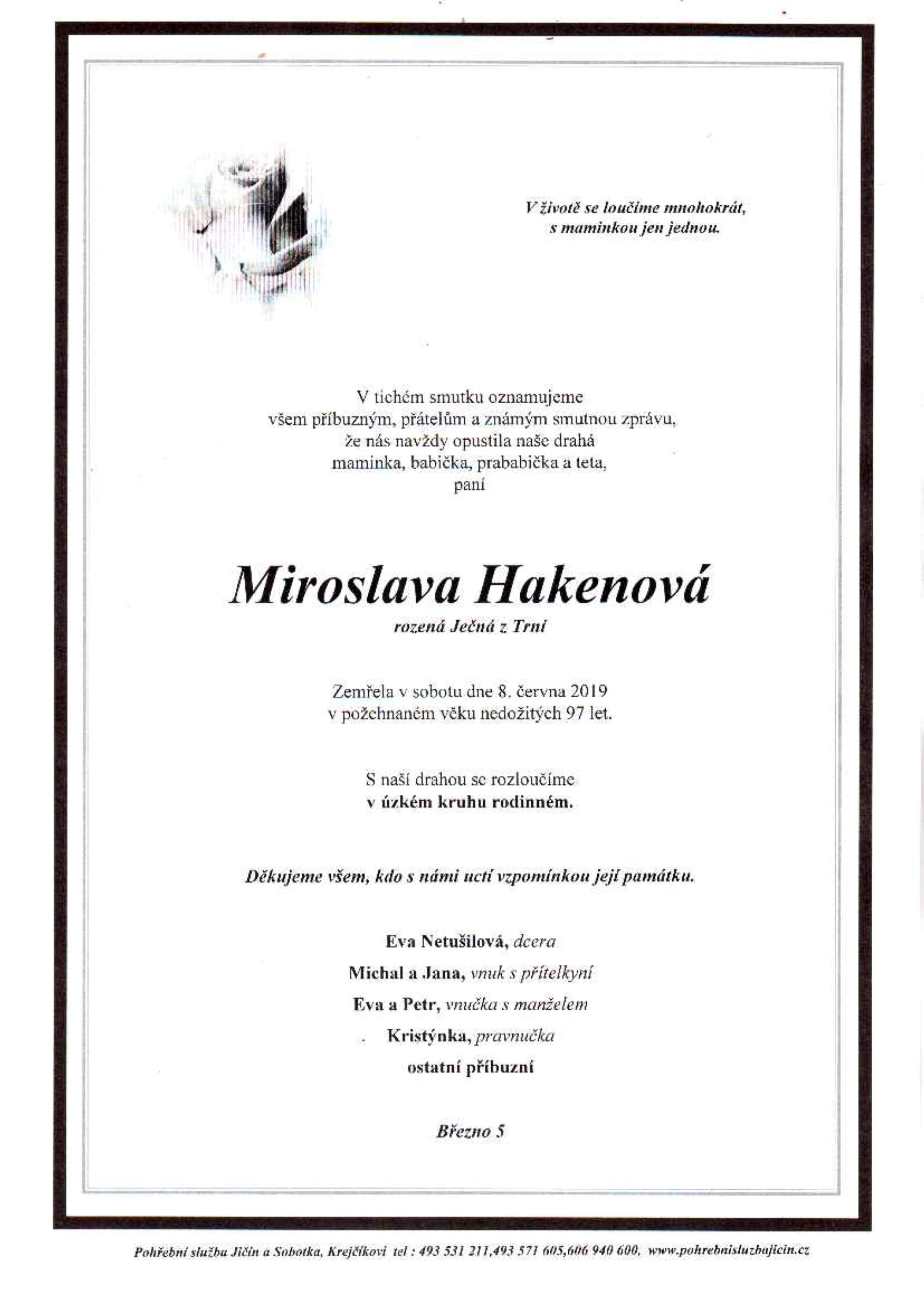 Miroslava Hakenová