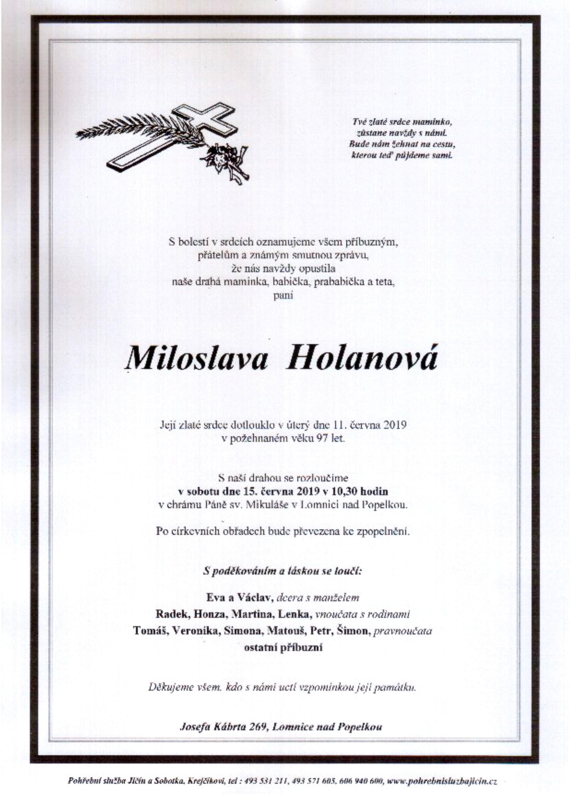Miloslava Holanová