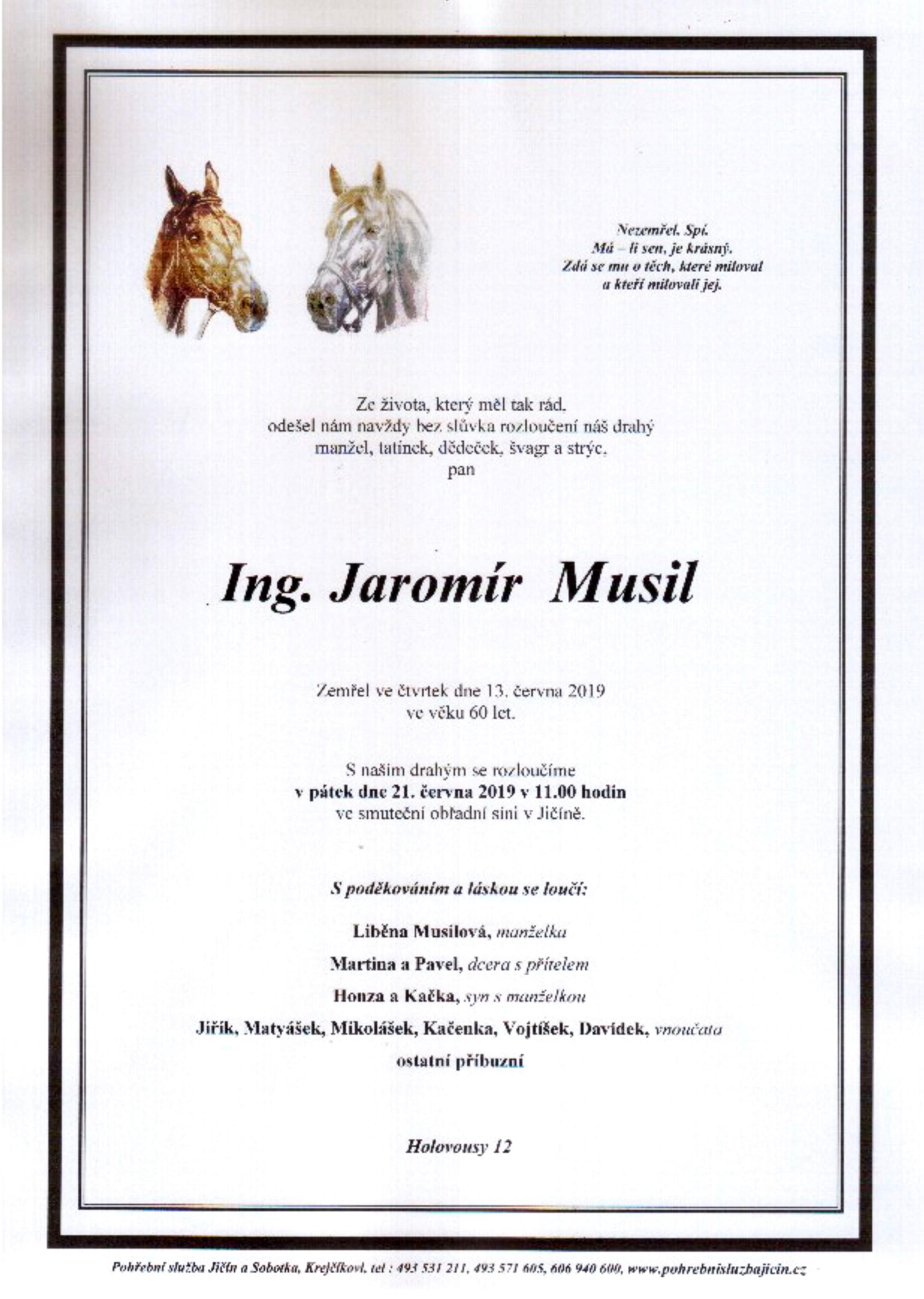 Ing. Jaromír Musil