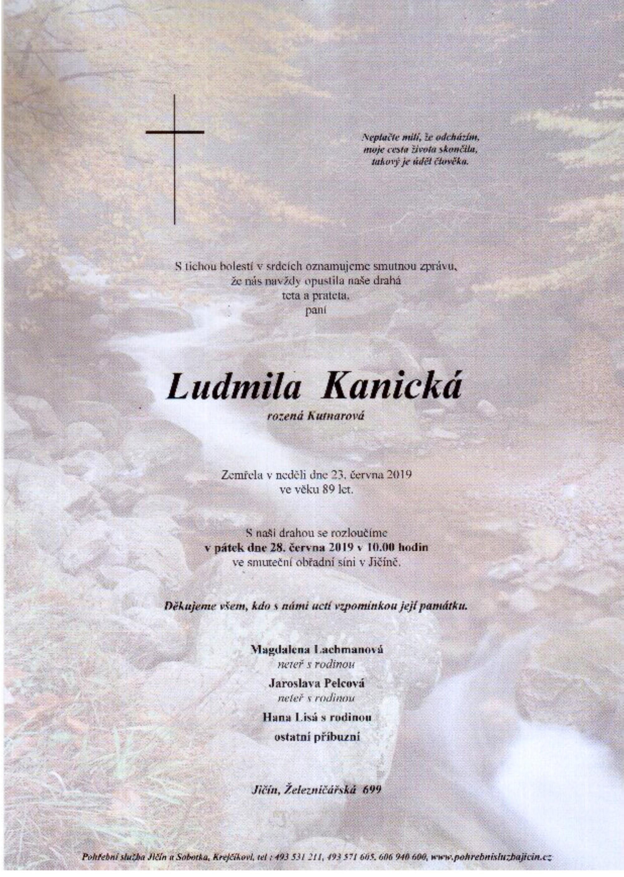 Ludmila Kanická