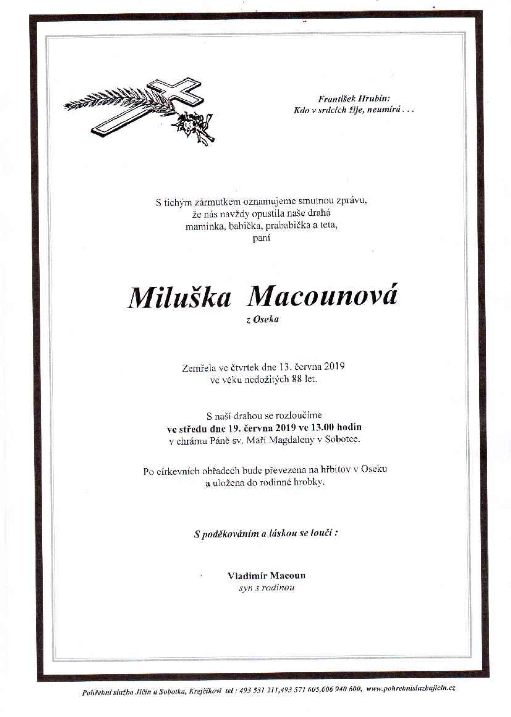 Miluška Macounová