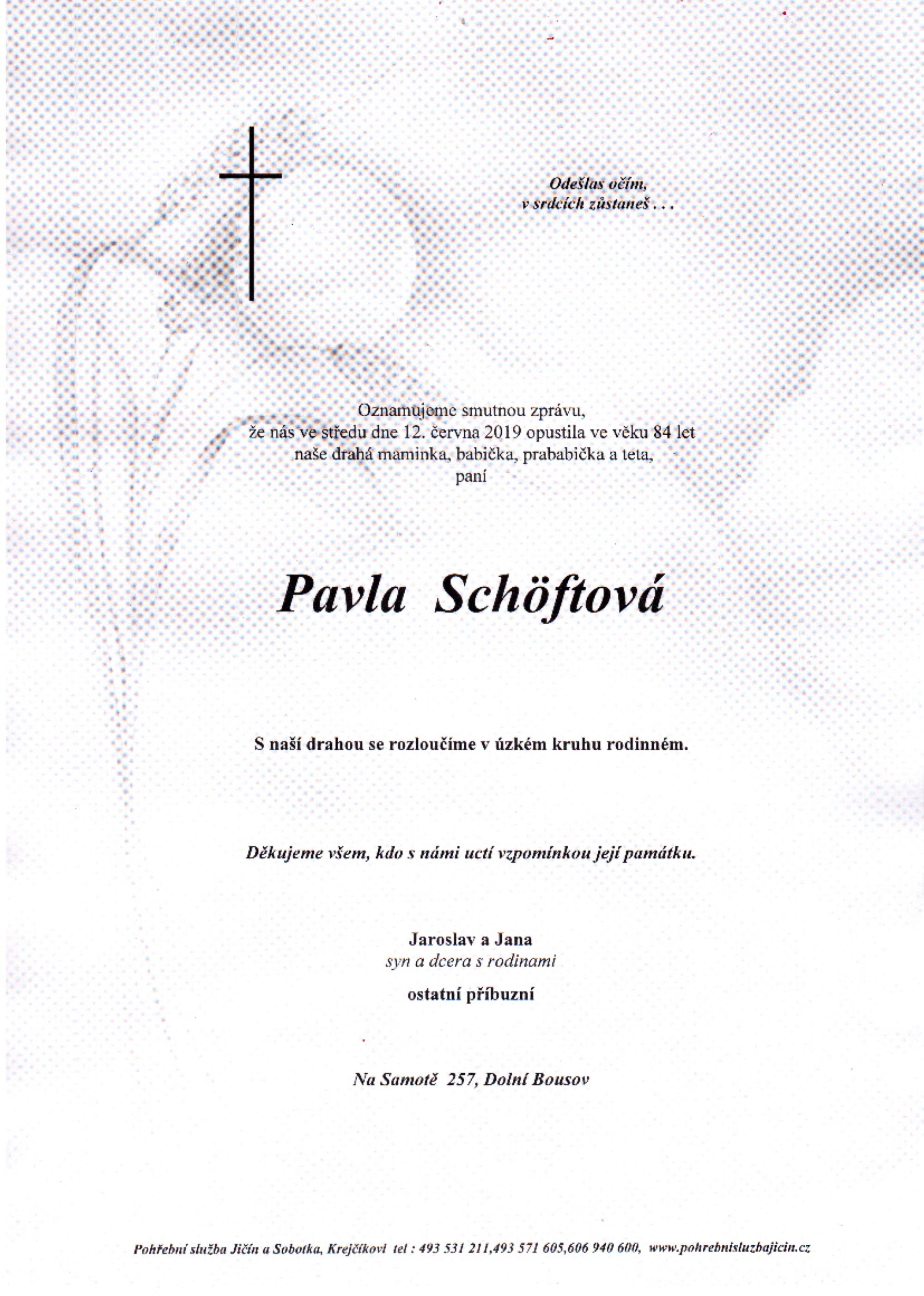 Pavla Schöftová