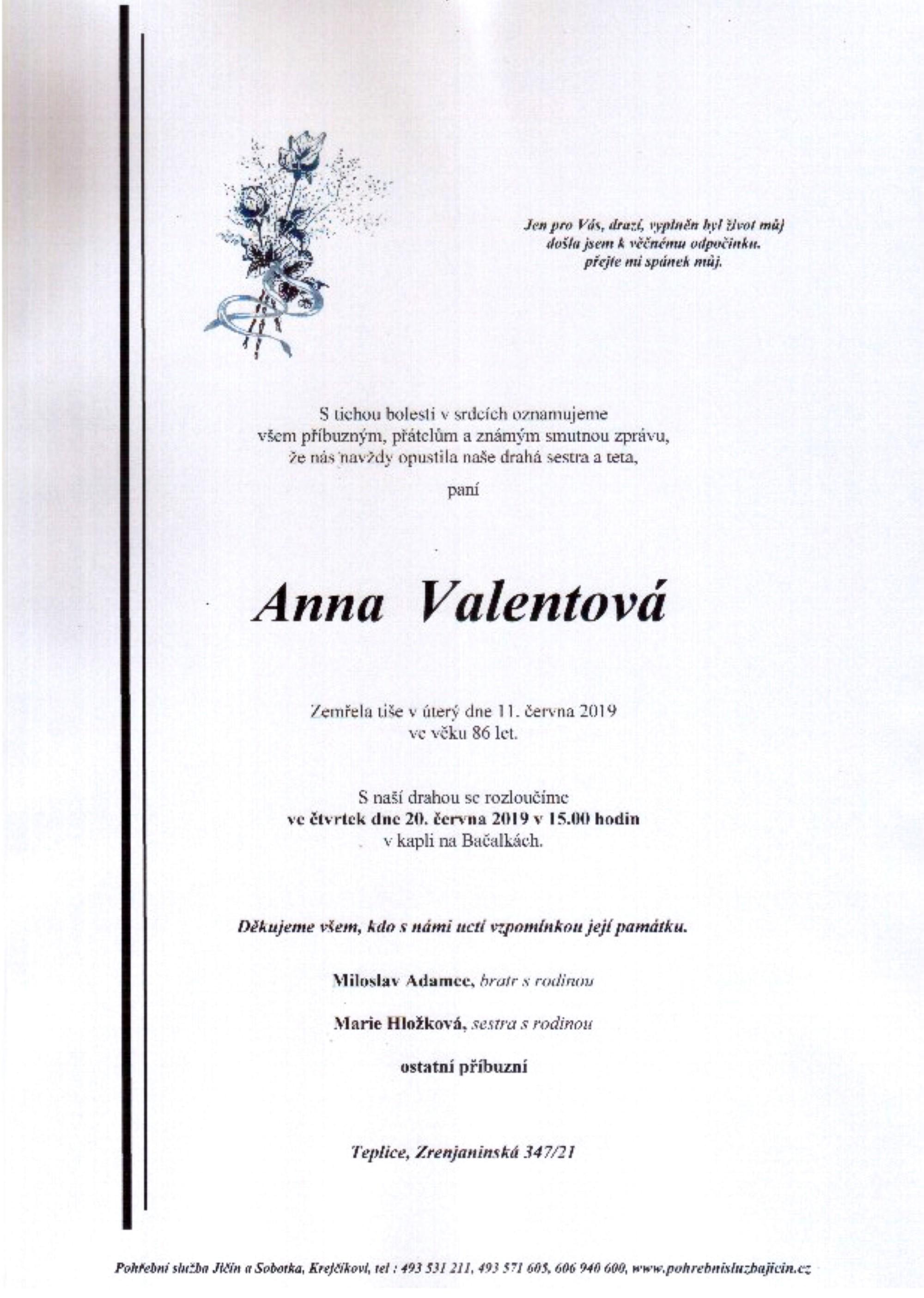 Anna Valentová