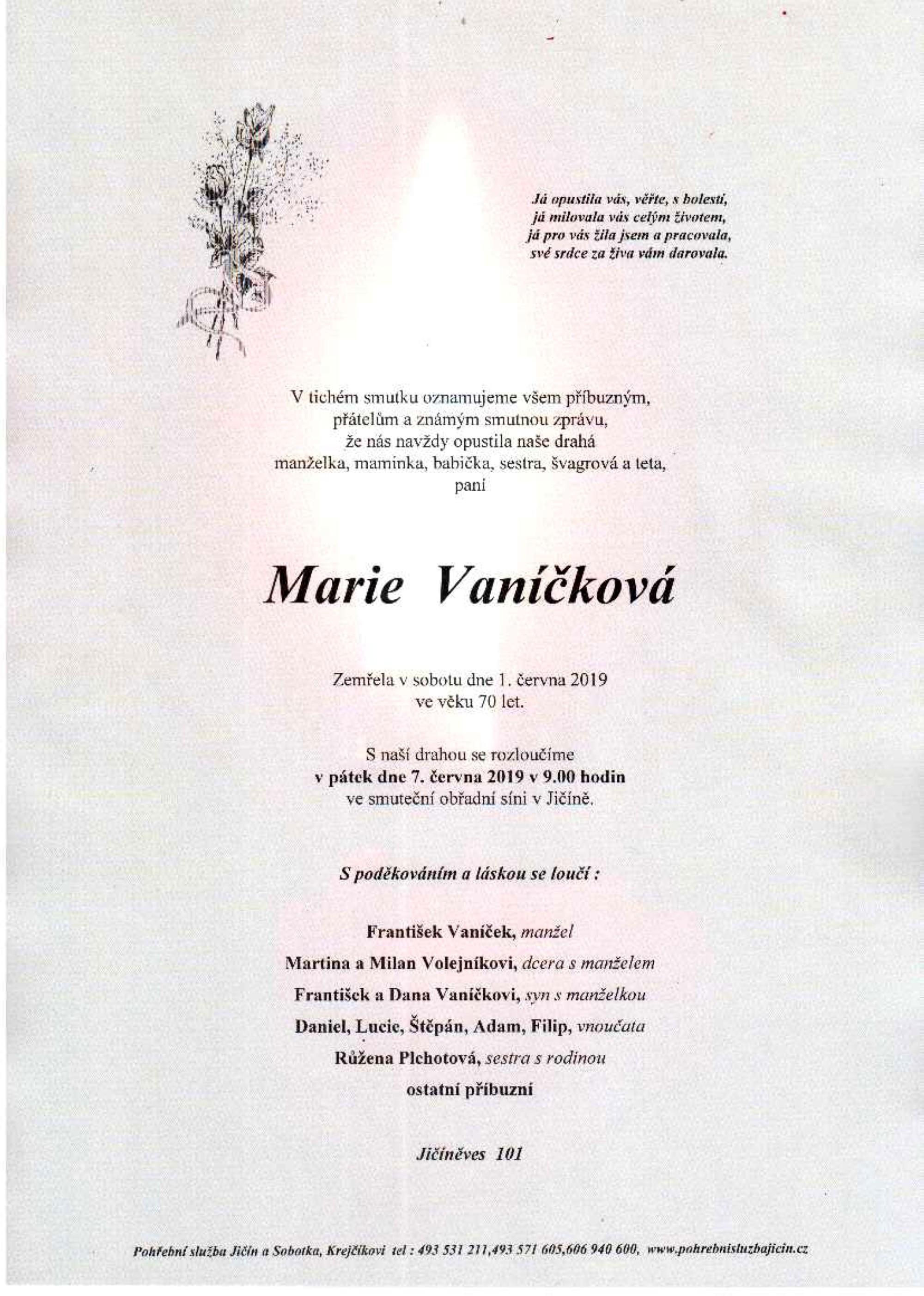 Marie Vaníčková