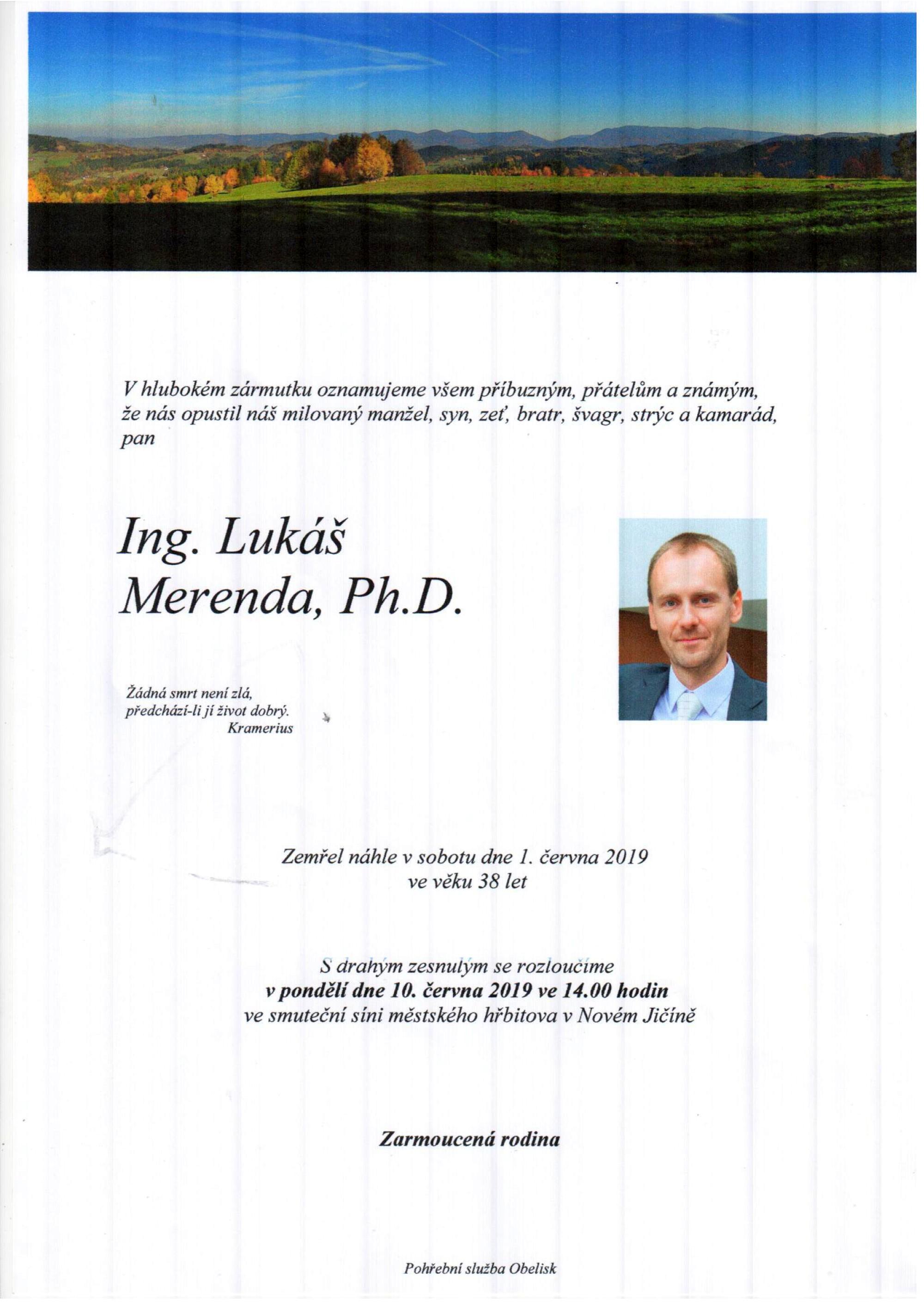Ing. Lukáš Merenda, Ph.D.